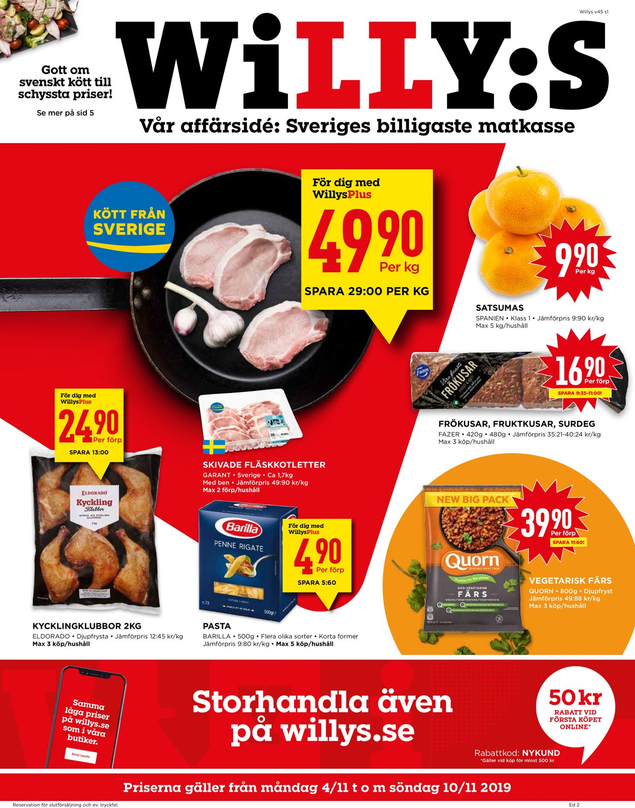 WiLLY:S - Reklamblad - 04/11-10/11-2019
