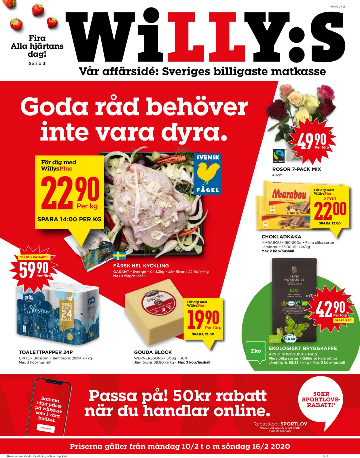 WiLLY:S - Reklamblad - 10/02-16/02-2020
