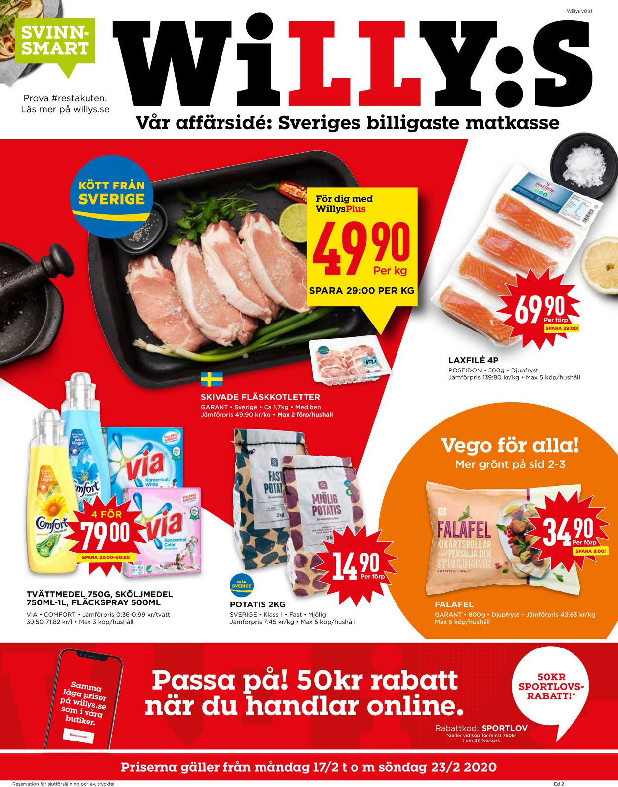 WiLLY:S - Reklamblad - 17/02-23/02-2020