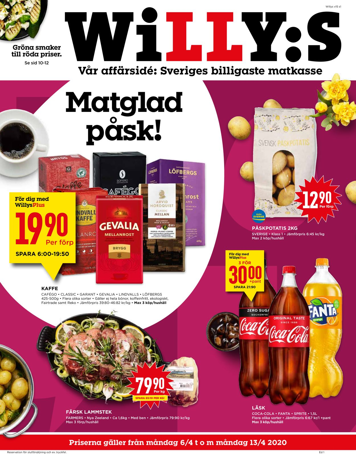 WiLLY:S - Reklamblad - 06/04-13/04-2020