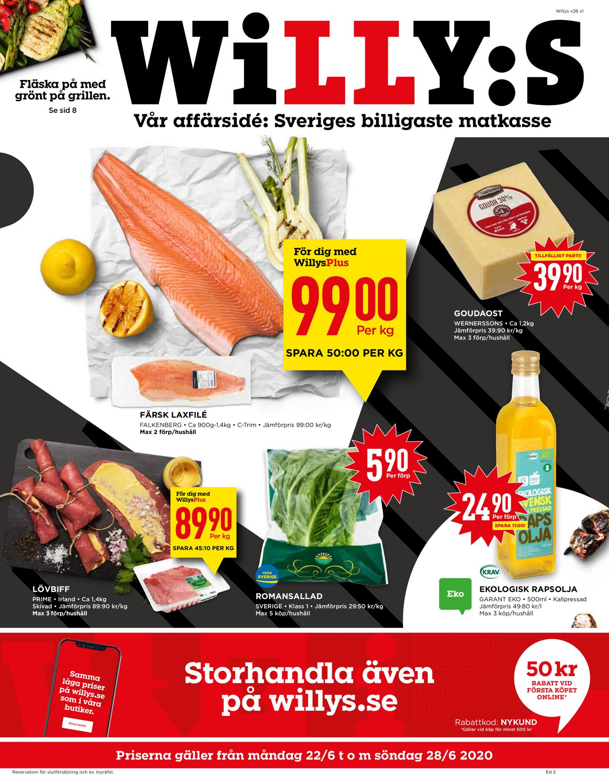 WiLLY:S - Reklamblad - 22/06-28/06-2020