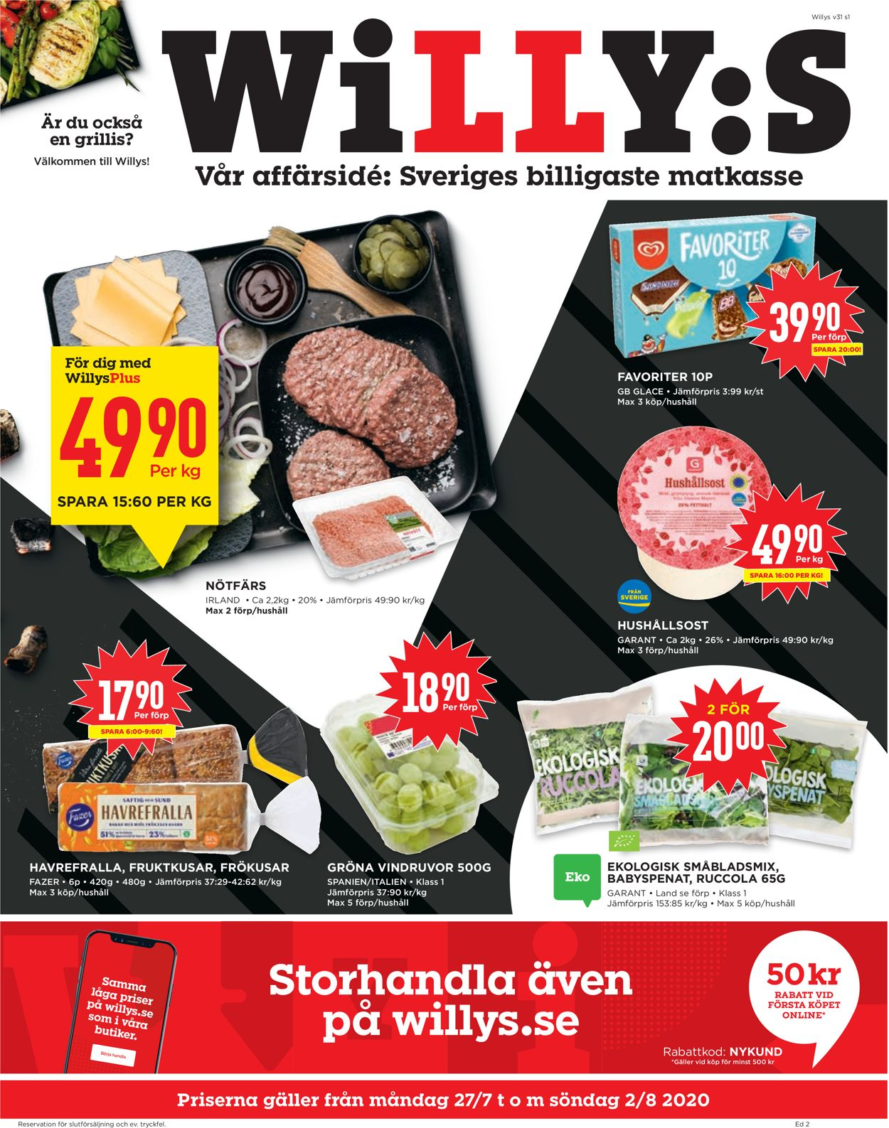 WiLLY:S - Reklamblad - 27/07-02/08-2020
