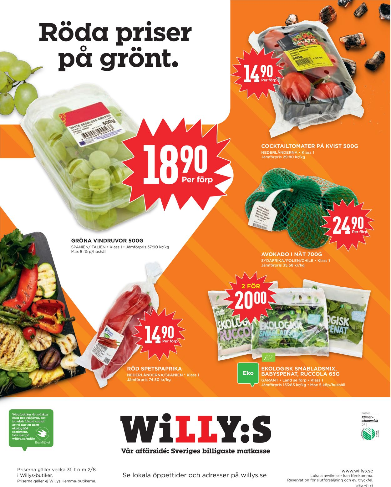 WiLLY:S - Reklamblad - 27/07-02/08-2020 (Sida 8)