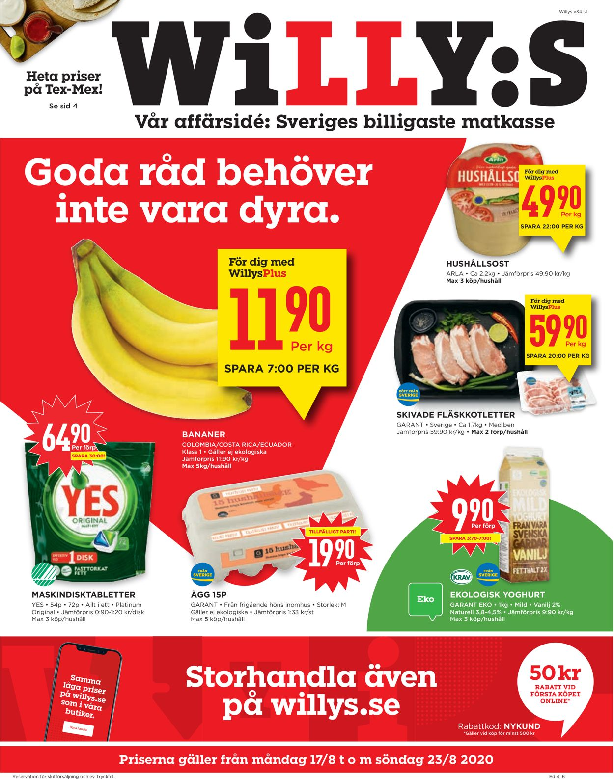 WiLLY:S - Reklamblad - 17/08-23/08-2020