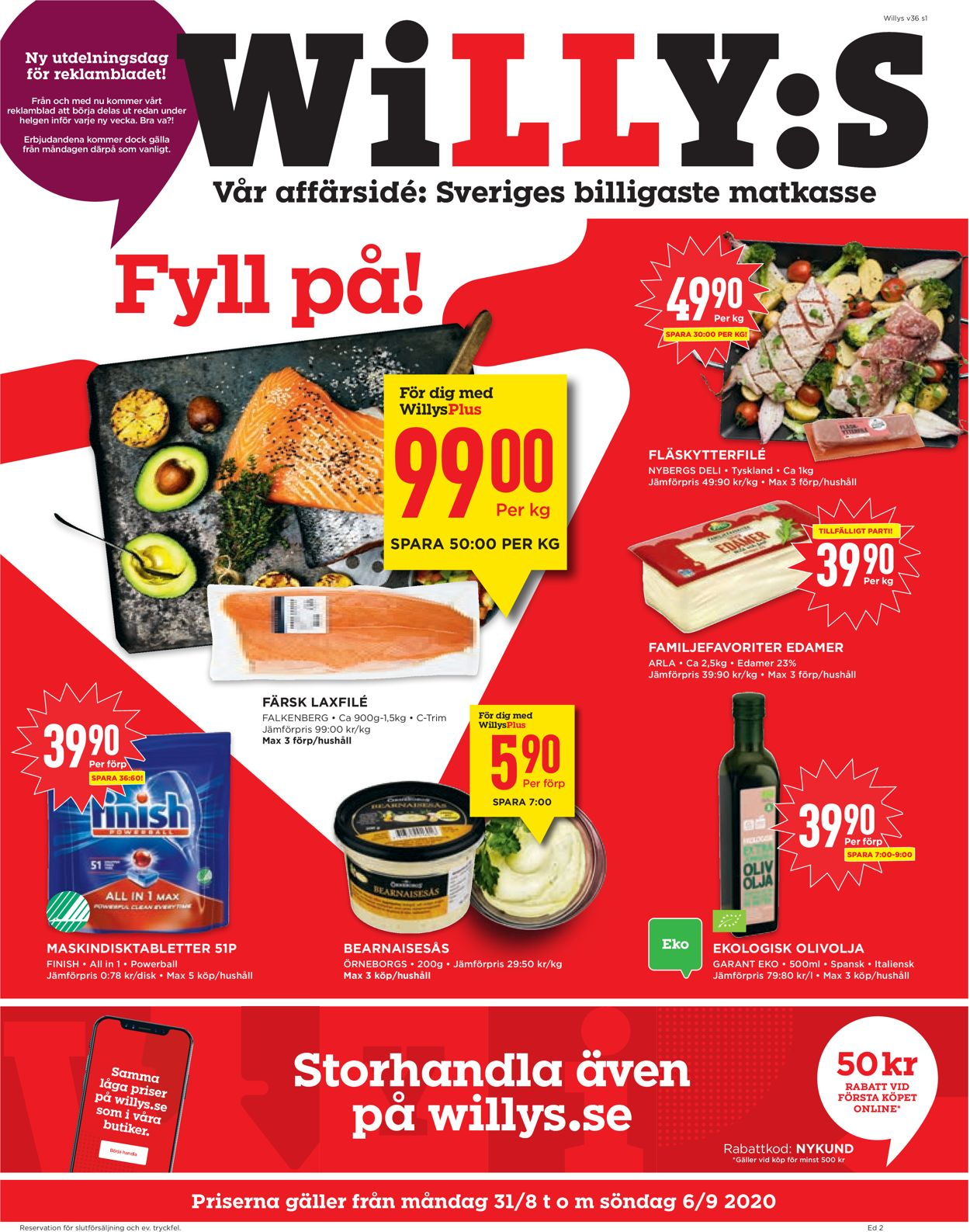 WiLLY:S - Reklamblad - 31/08-06/09-2020