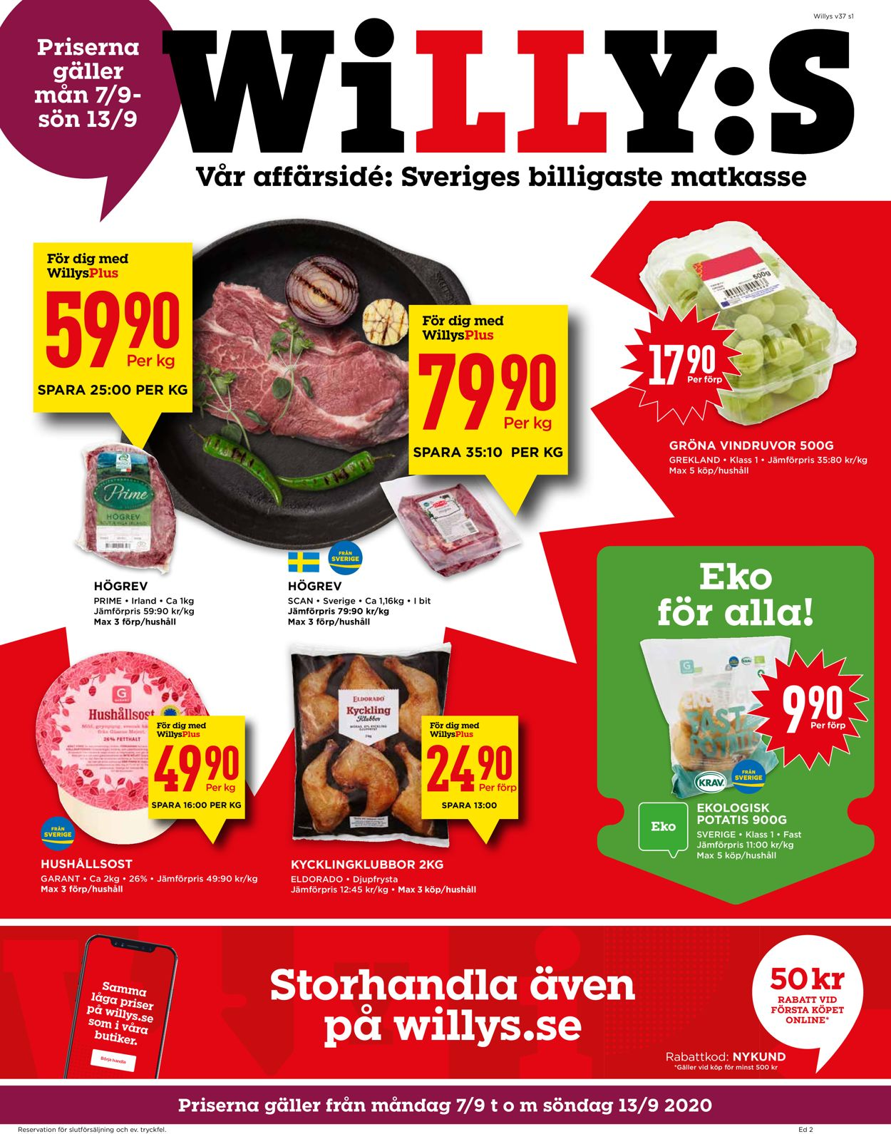 WiLLY:S - Reklamblad - 07/09-13/09-2020