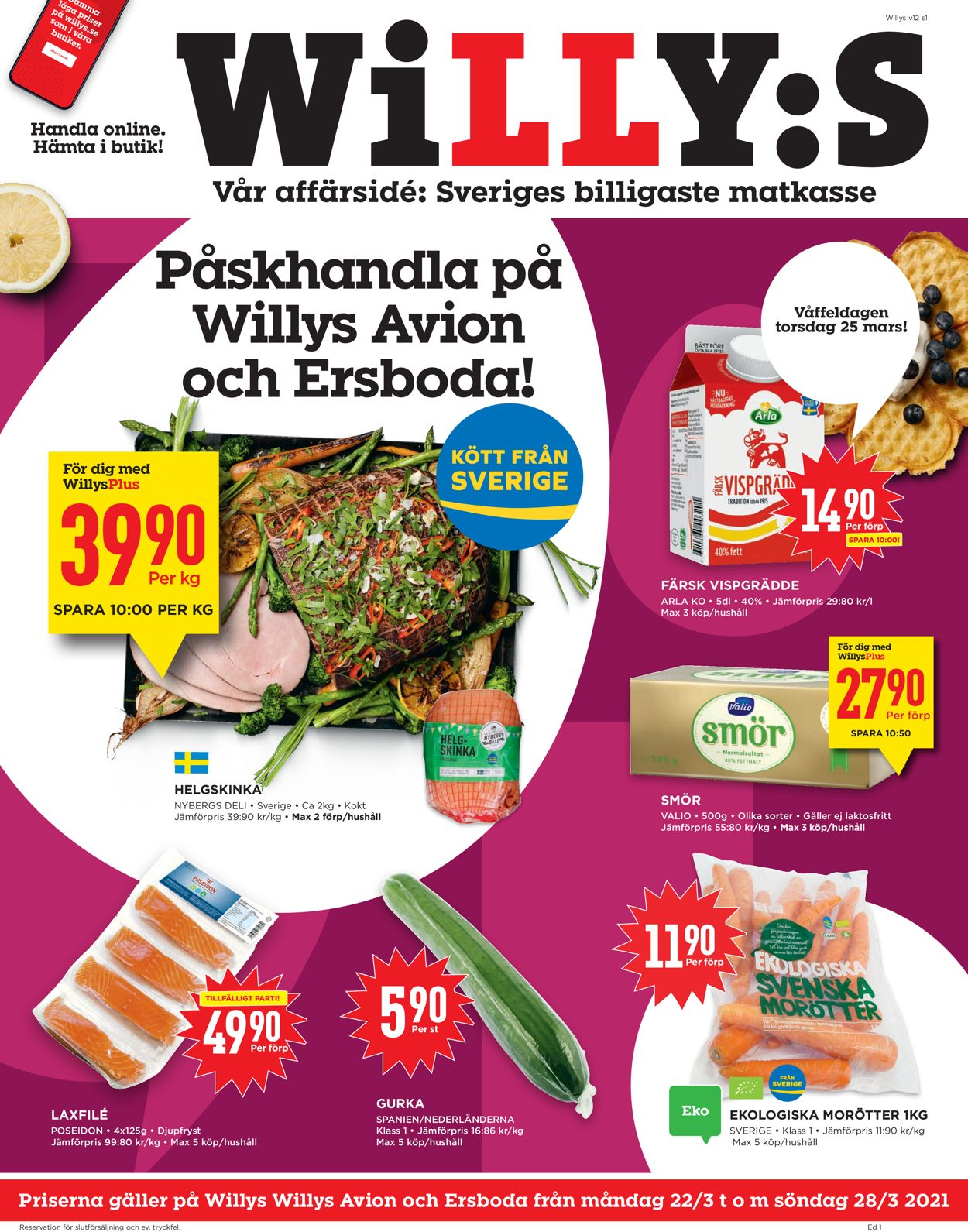 WiLLY:S - Reklamblad - 22/03-28/03-2021
