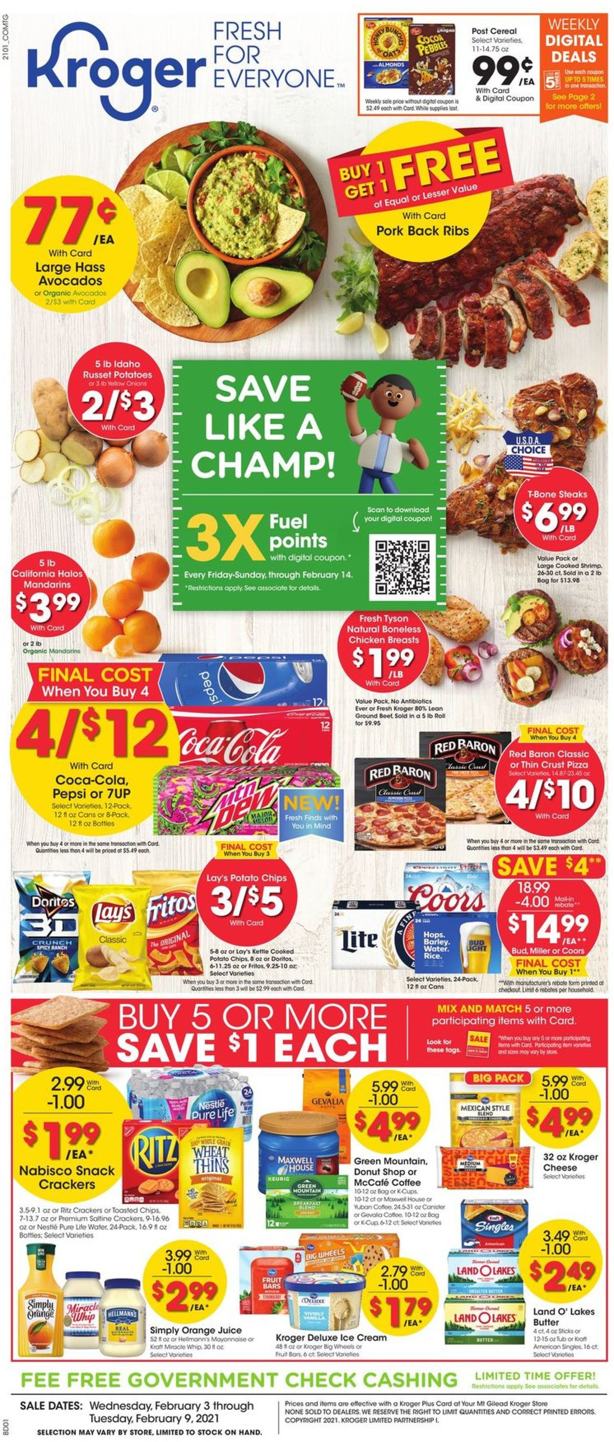 Kroger Weekly Ad Circular - valid 02/03-02/09/2021