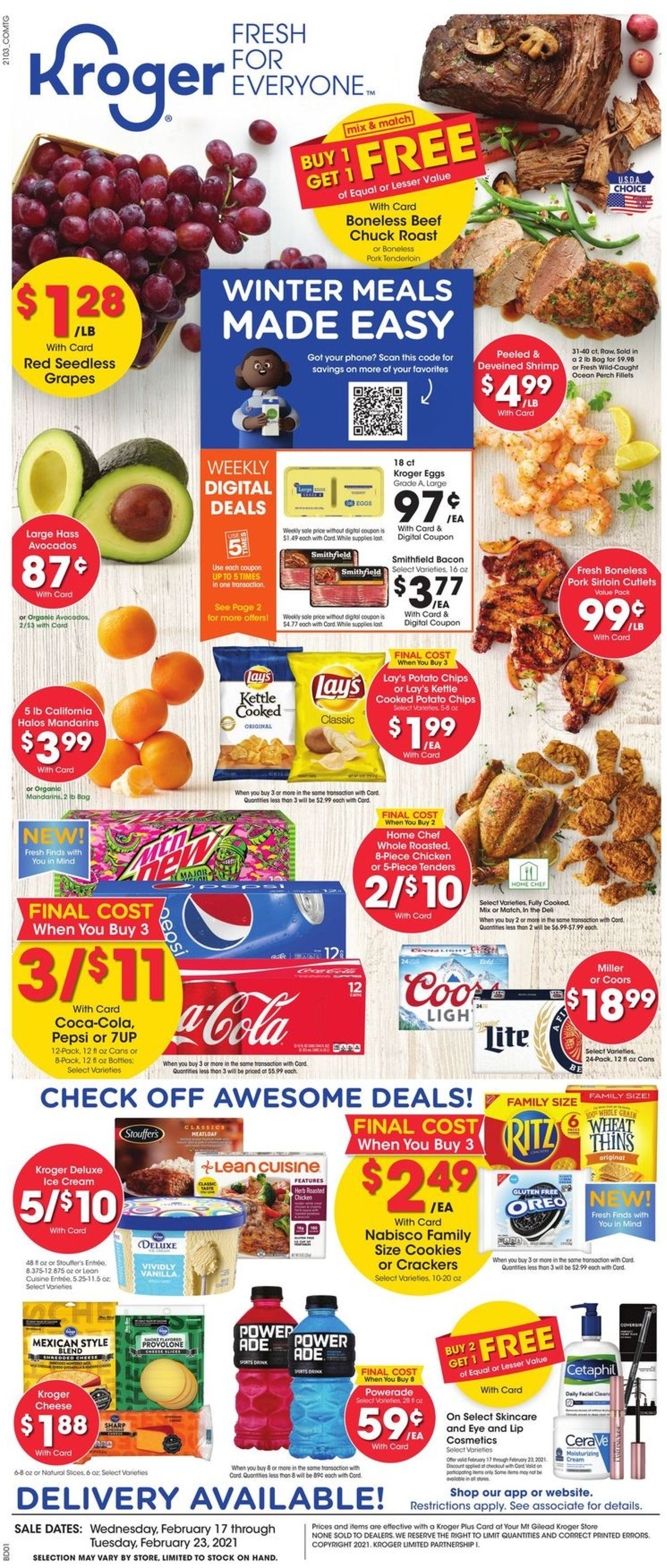 Kroger Weekly Ad Circular - valid 02/17-02/23/2021