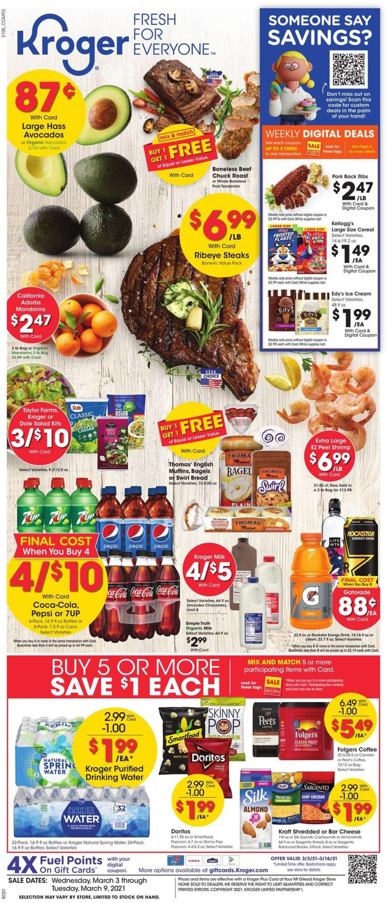 Kroger Weekly Ad Circular - valid 03/03-03/09/2021