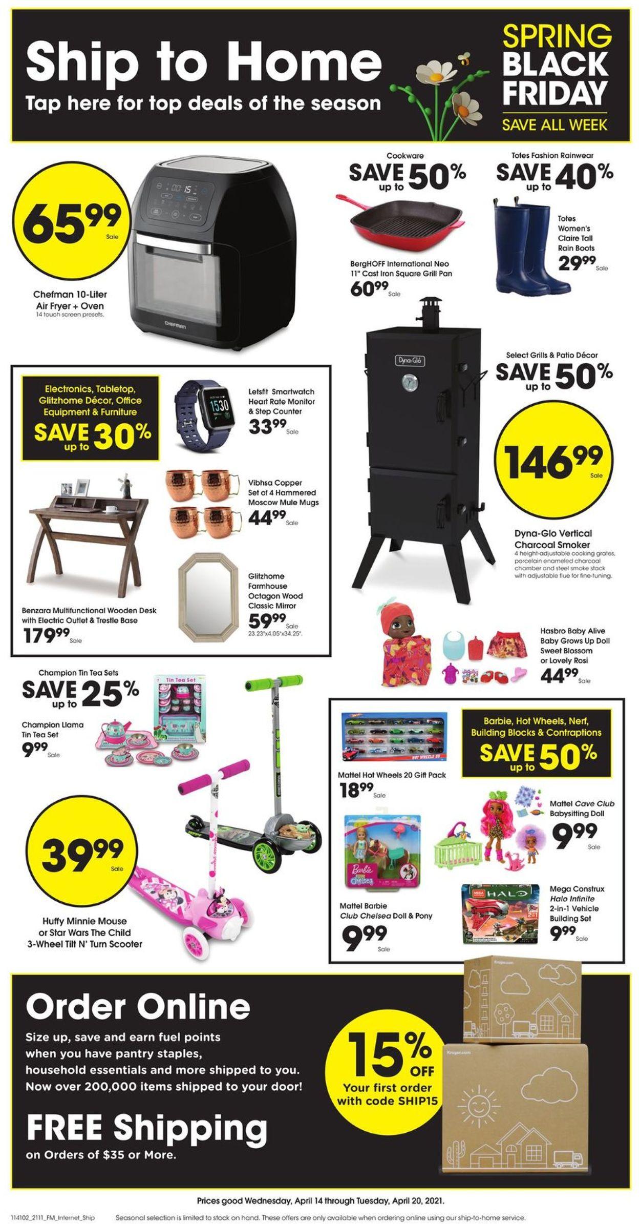 Kroger Weekly Ad Circular - valid 04/14-04/20/2021
