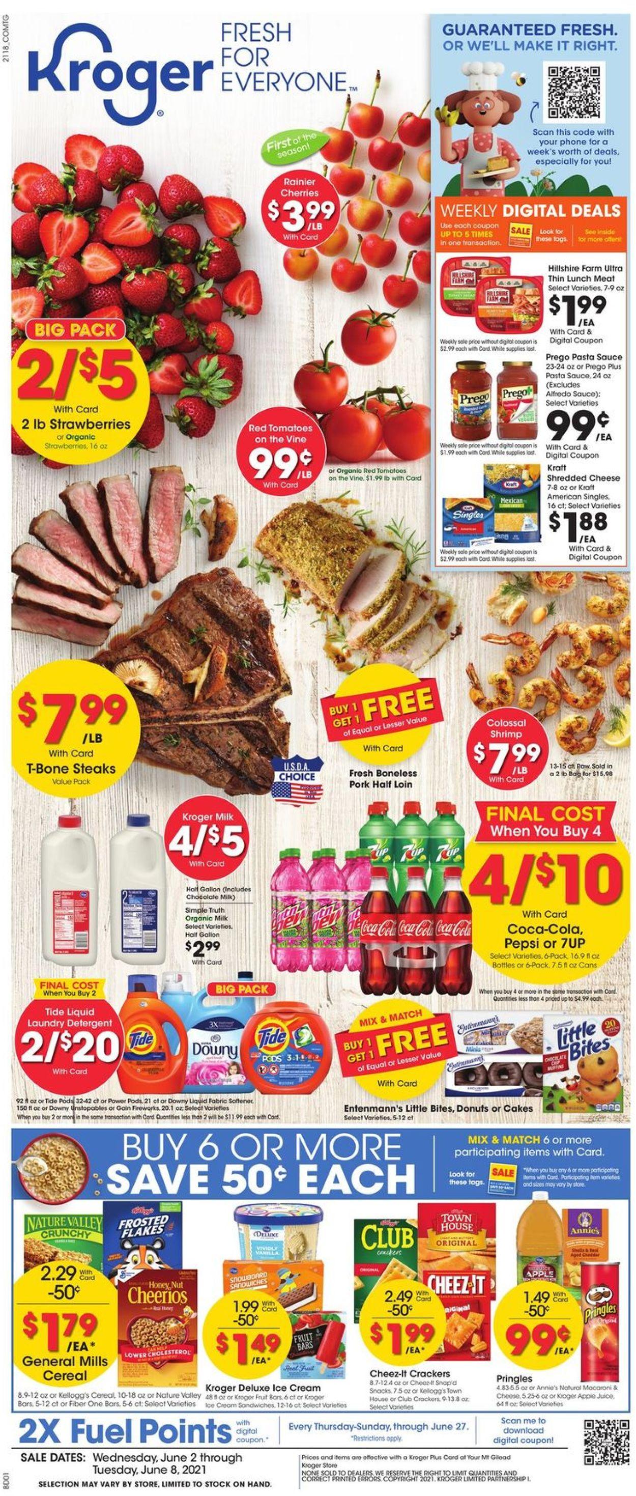 Kroger Weekly Ad Circular - valid 06/02-06/08/2021
