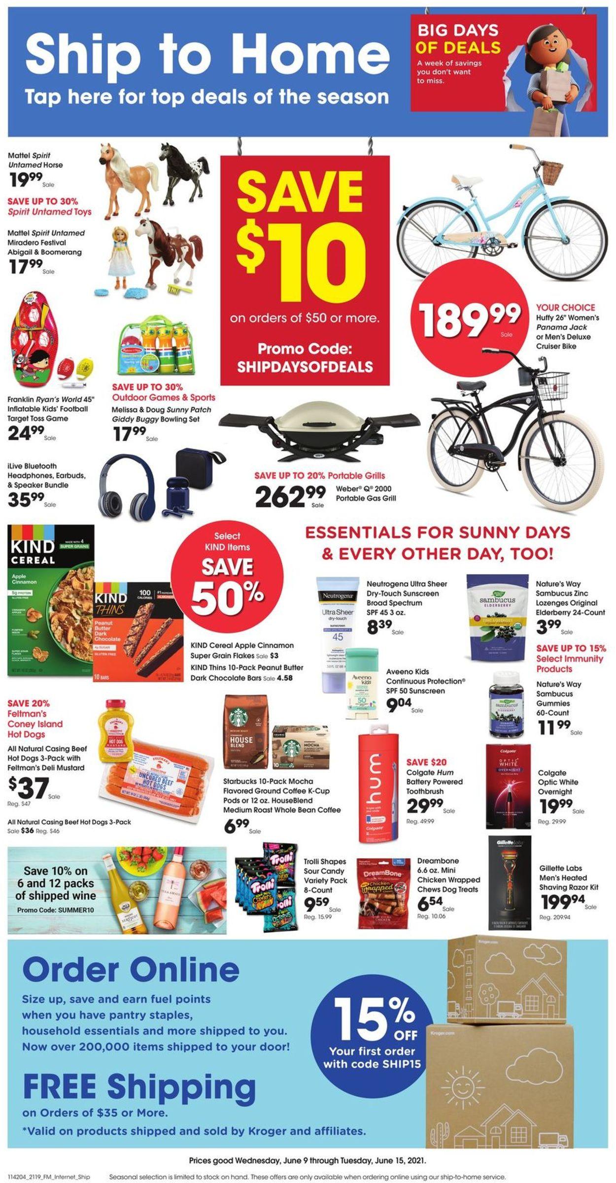 Kroger Weekly Ad Circular - valid 06/09-06/15/2021
