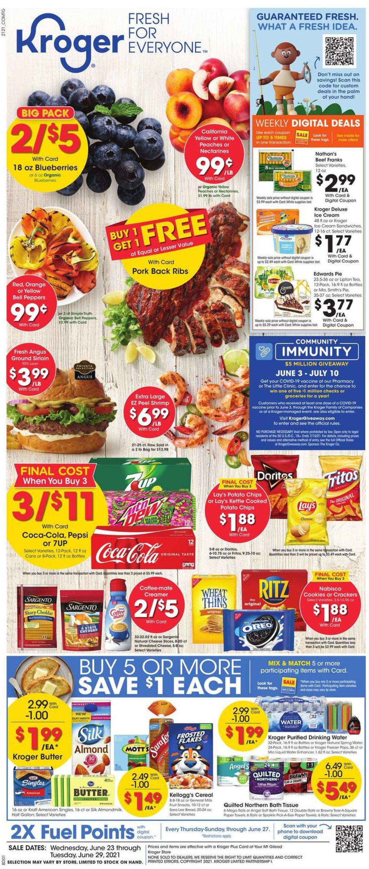 Kroger Weekly Ad Circular - valid 06/23-06/29/2021