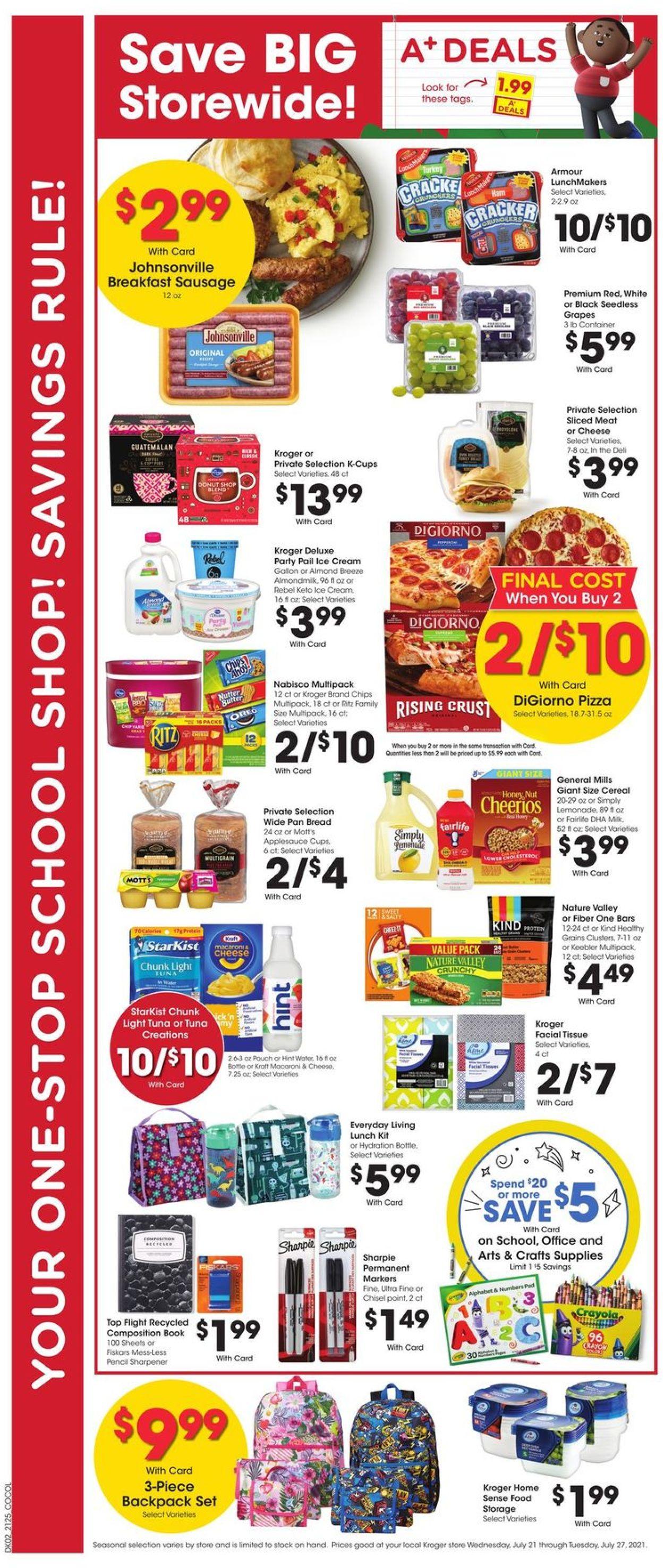Kroger Weekly Ad Circular - valid 07/21-07/27/2021 (Page 4)
