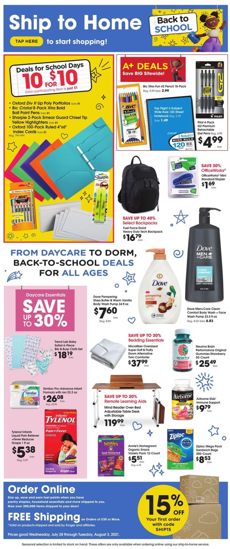 Kroger Weekly Ad Circular - valid 07/28-08/03/2021