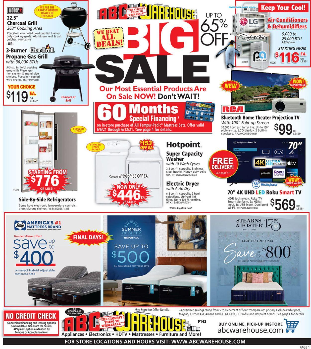 ABC Warehouse Weekly Ad Circular - valid 06/06-06/12/2021
