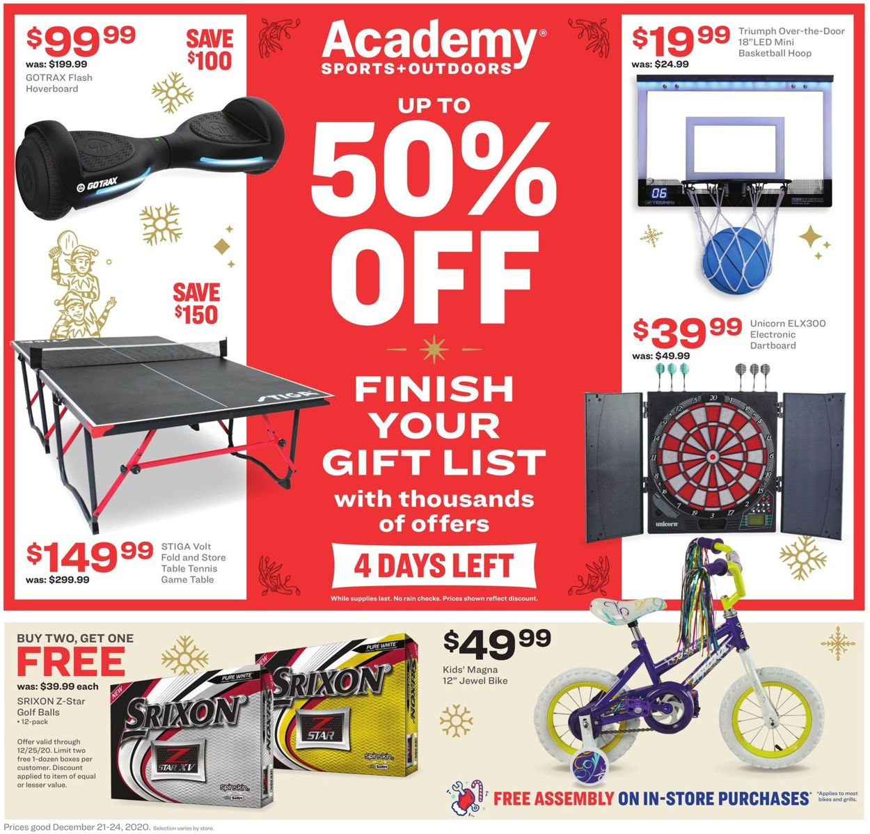 Academy Sports Weekly Ad Circular - valid 12/21-12/24/2020