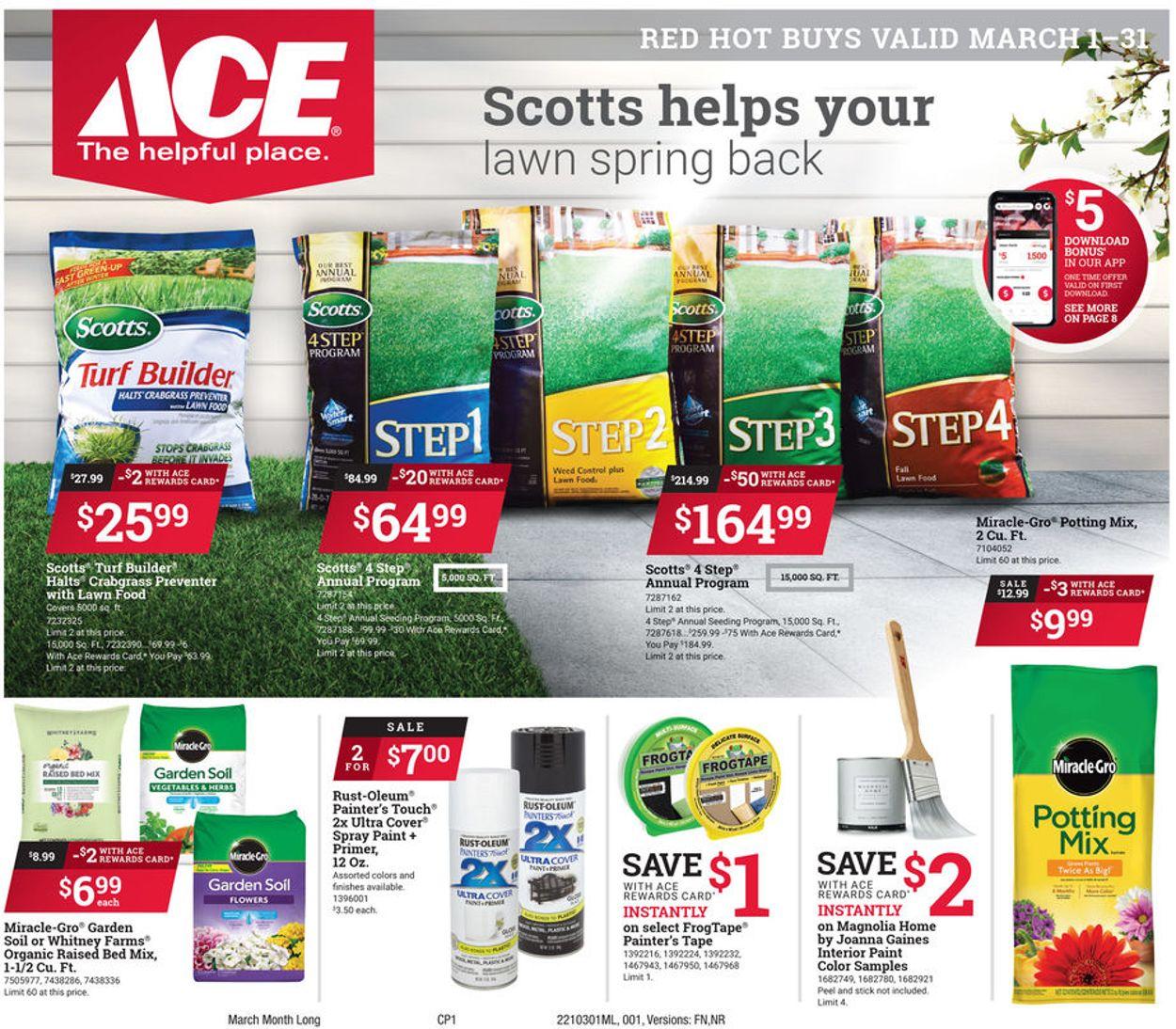 Ace Hardware Weekly Ad Circular - valid 03/01-03/31/2021