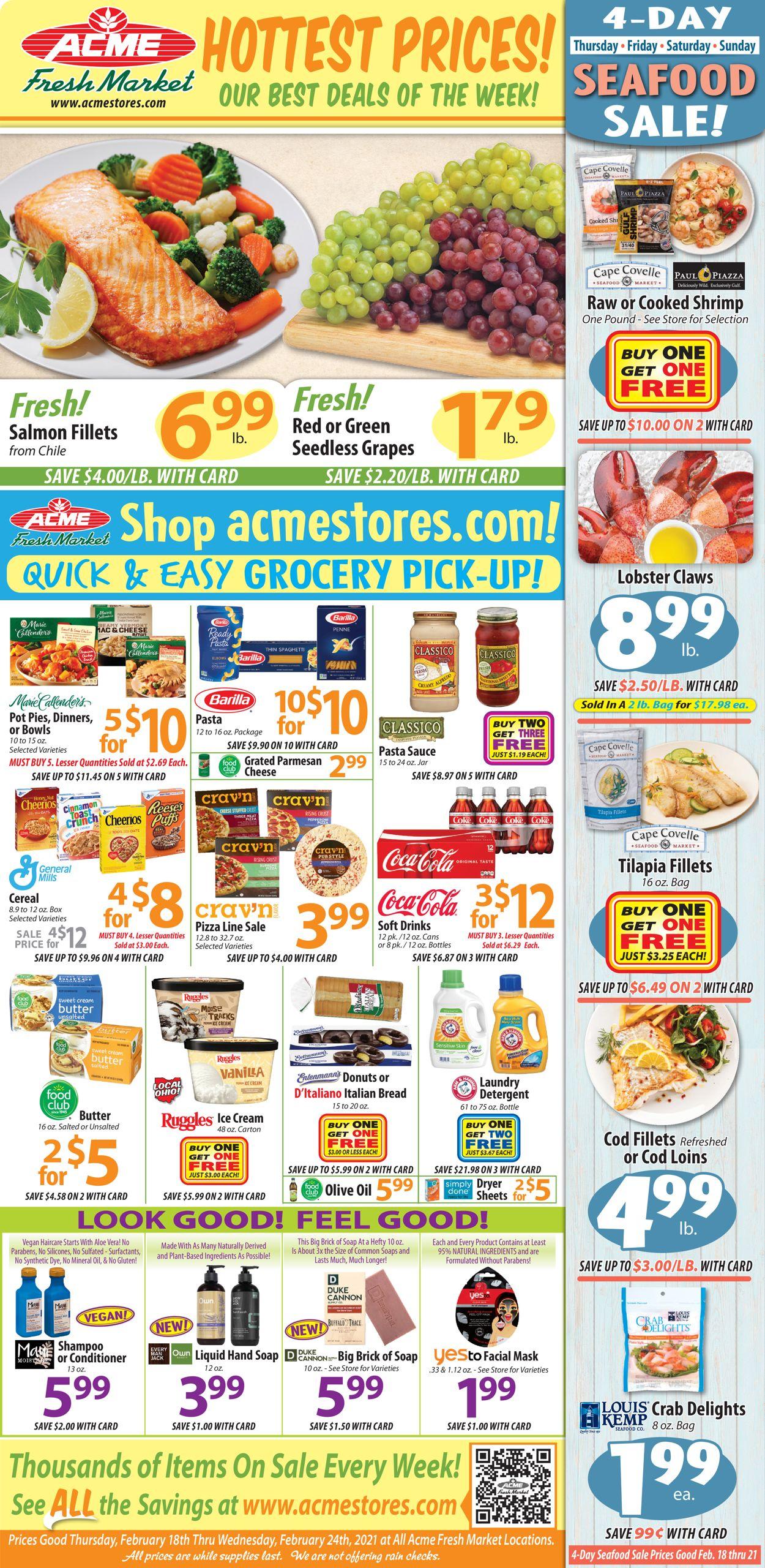 Acme Fresh Market Weekly Ad Circular - valid 02/18-02/24/2021