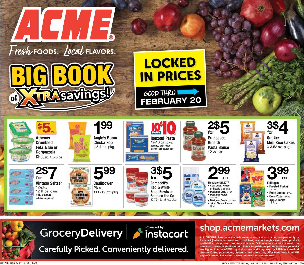 Acme Weekly Ad Circular - valid 01/17-02/20/2020