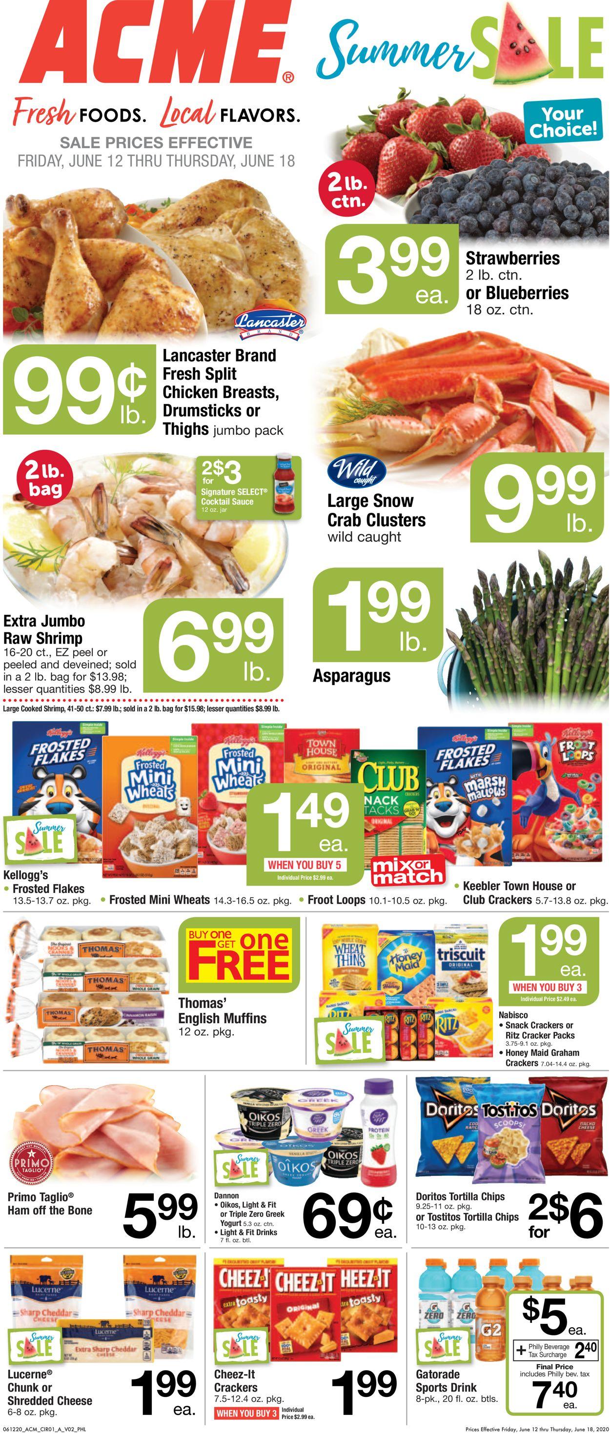 Acme Weekly Ad Circular - valid 06/12-06/18/2020