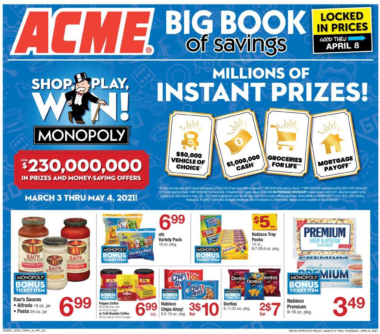 Acme Weekly Ad Circular - valid 03/05-04/08/2021