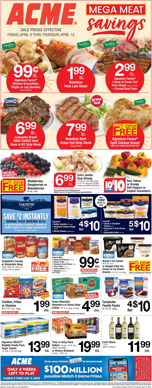 Acme Weekly Ad Circular - valid 04/09-04/15/2021