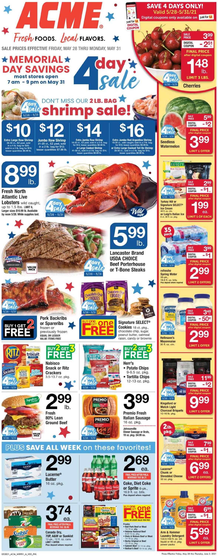 Acme Weekly Ad Circular - valid 05/28-06/03/2021