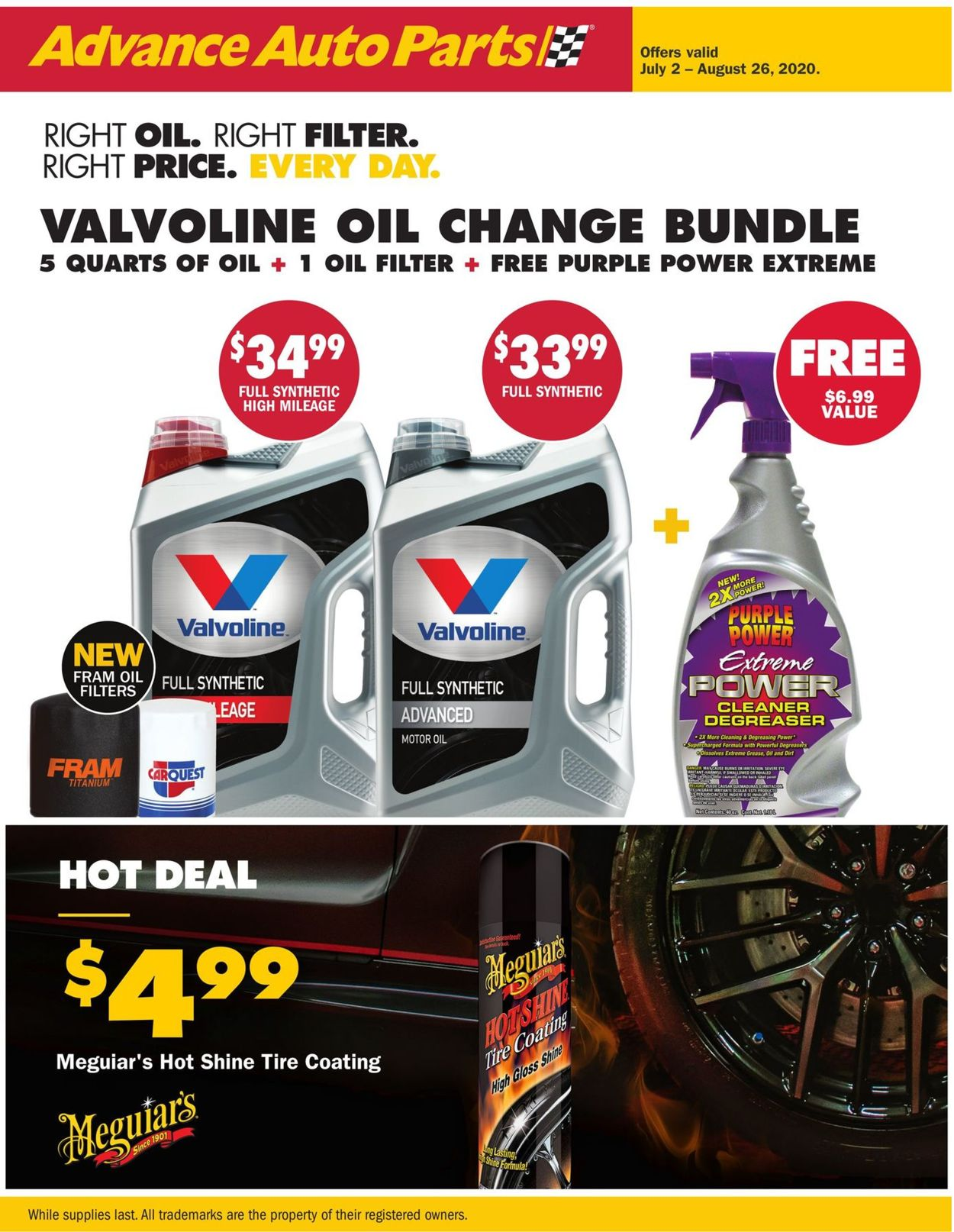 Advance Auto Parts Weekly Ad Circular - valid 07/02-08/26/2020