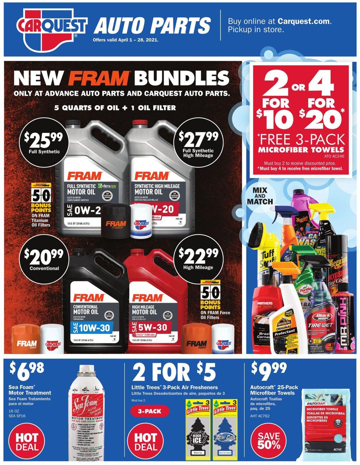 Advance Auto Parts Weekly Ad Circular - valid 04/01-04/28/2021