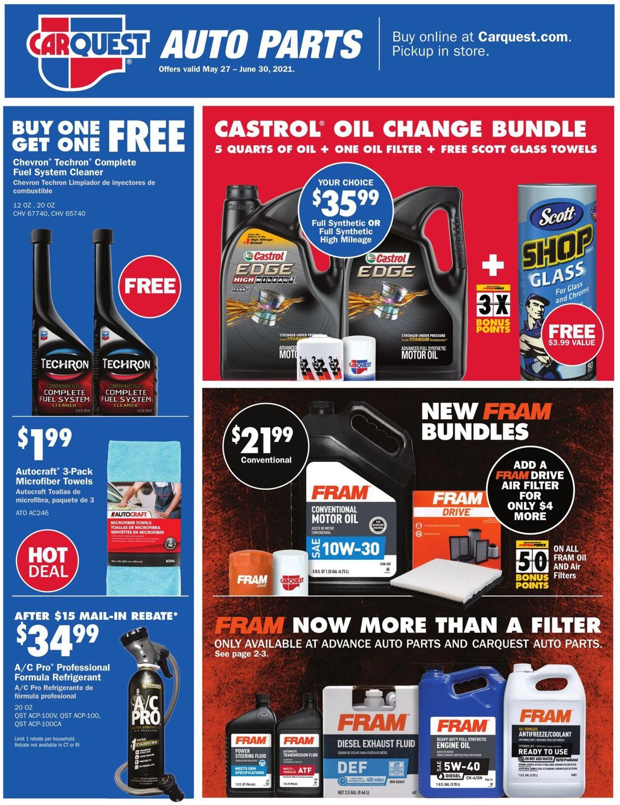 Advance Auto Parts Weekly Ad Circular - valid 05/27-06/30/2021