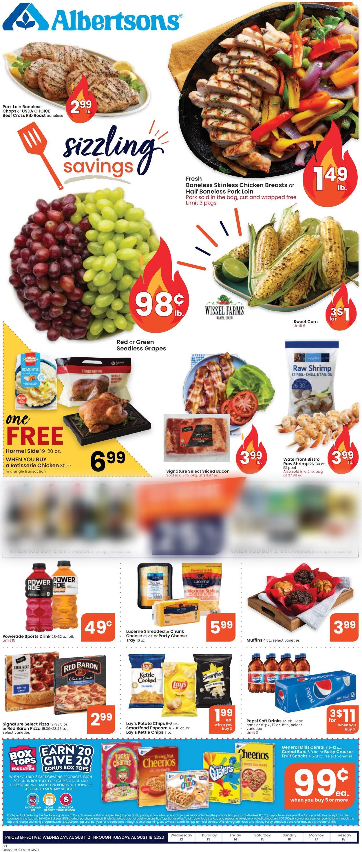 Albertsons Weekly Ad Circular - valid 08/12-08/18/2020
