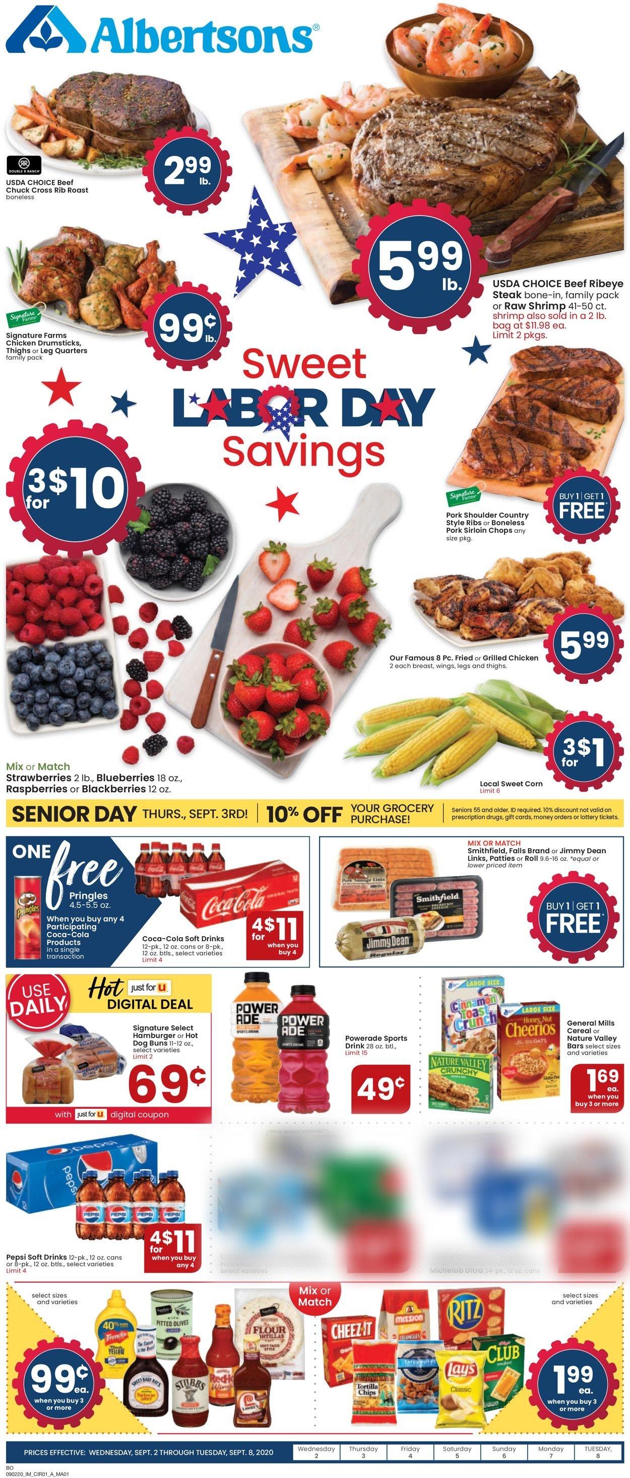 Albertsons Weekly Ad Circular - valid 09/02-09/08/2020