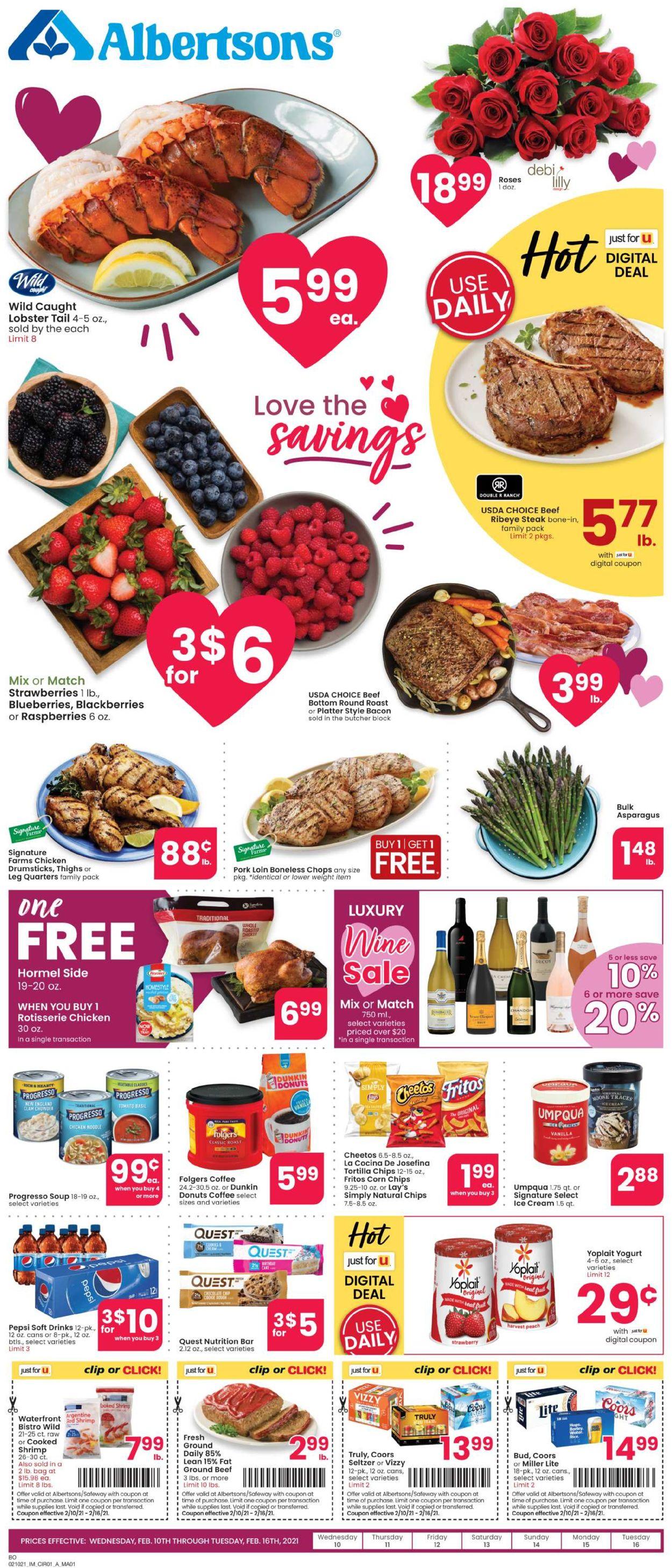 Albertsons Weekly Ad Circular - valid 02/10-02/16/2021