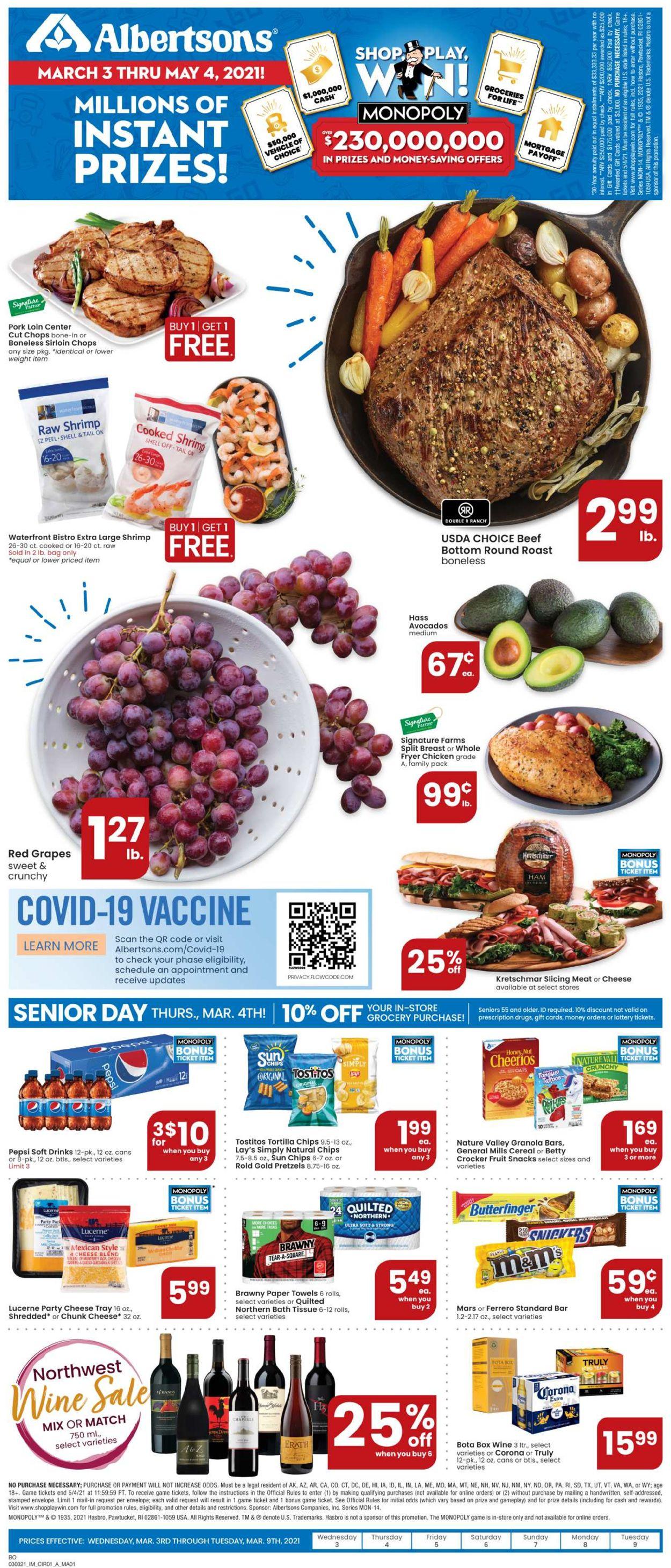 Albertsons Weekly Ad Circular - valid 03/03-03/09/2021