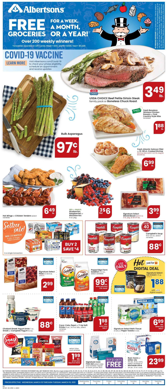 Albertsons Weekly Ad Circular - valid 03/10-03/16/2021