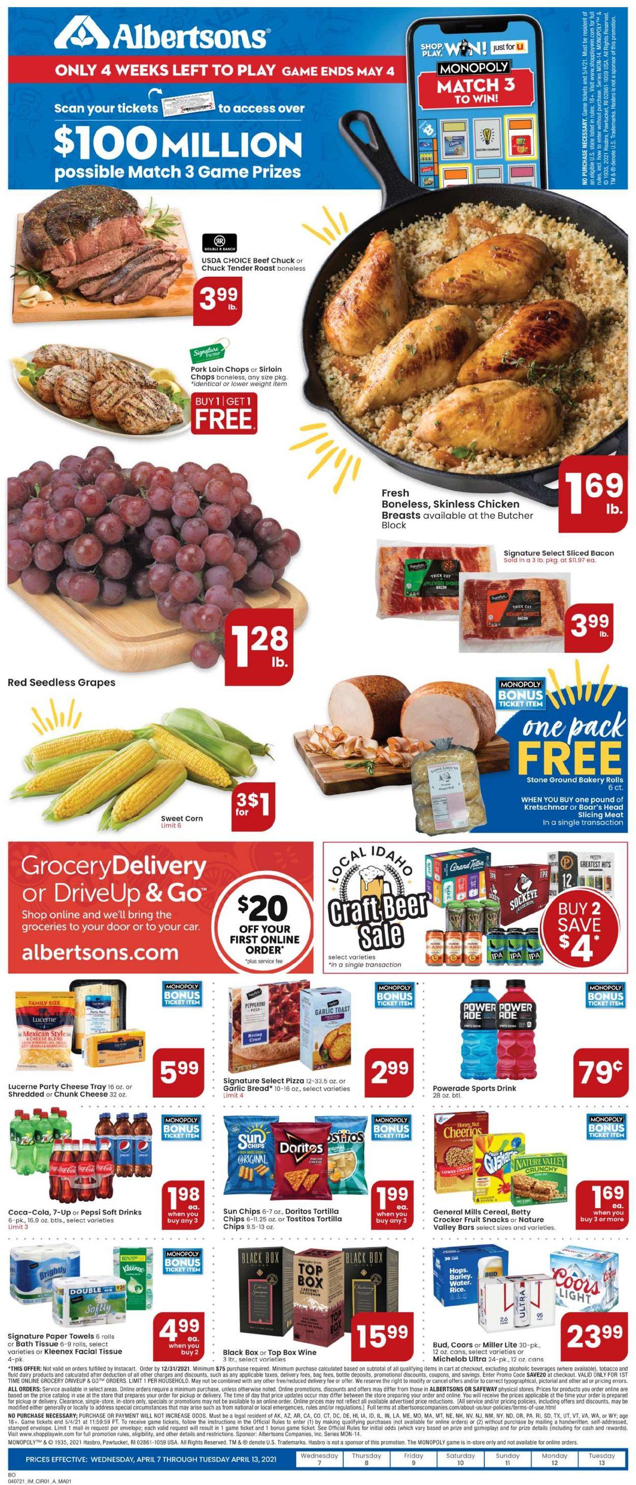 Albertsons Weekly Ad Circular - valid 04/07-04/13/2021