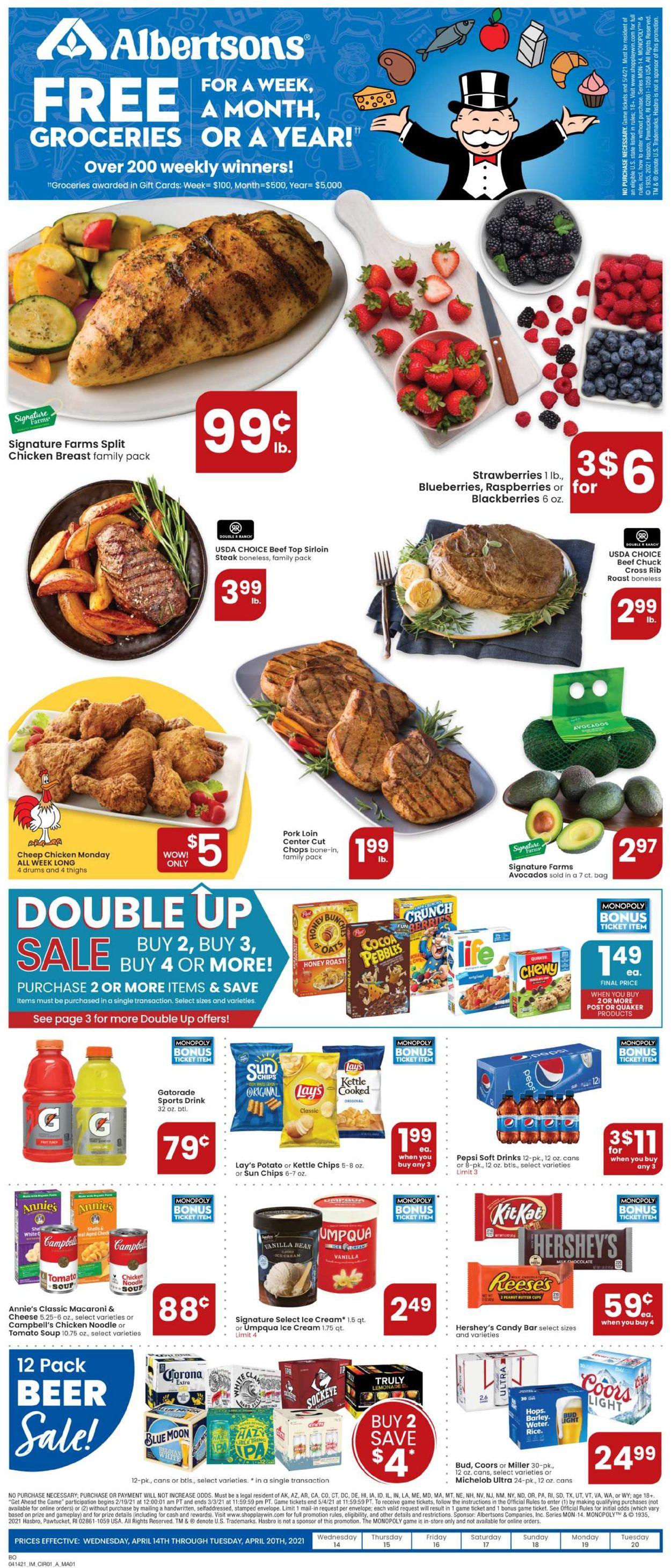 Albertsons Weekly Ad Circular - valid 04/14-04/20/2021