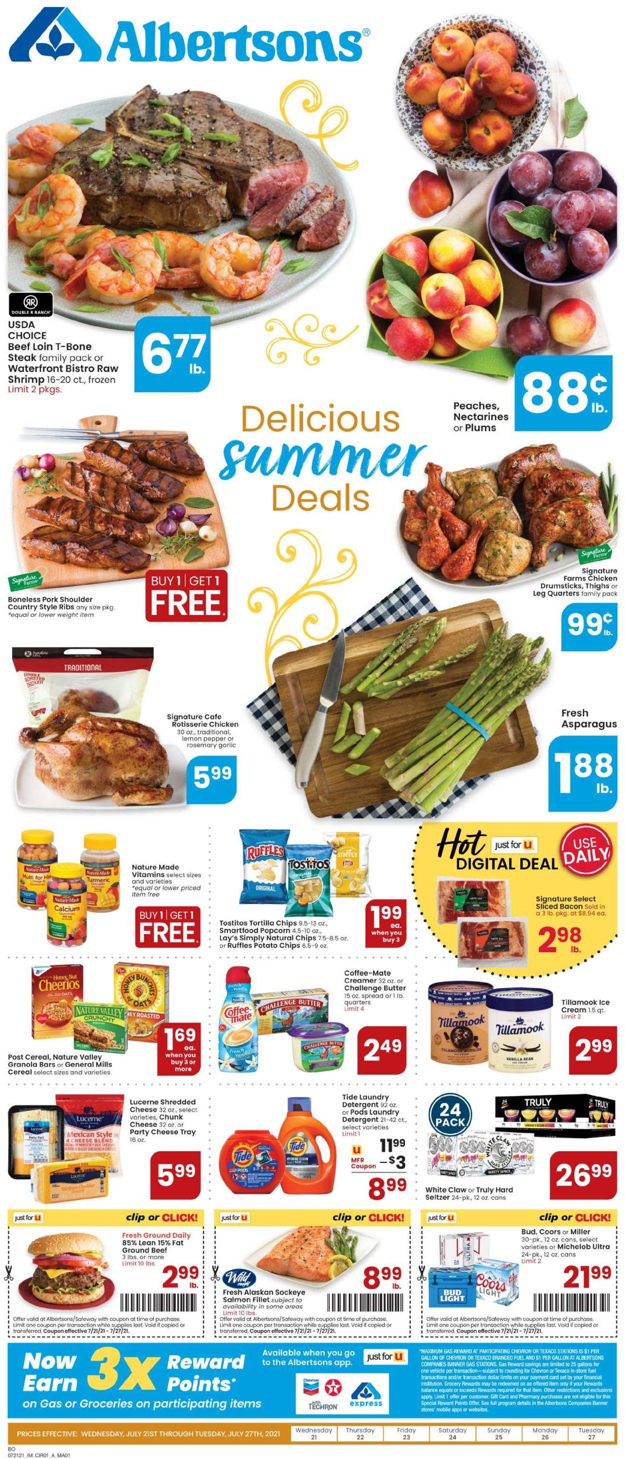Albertsons Weekly Ad Circular - valid 07/21-07/27/2021