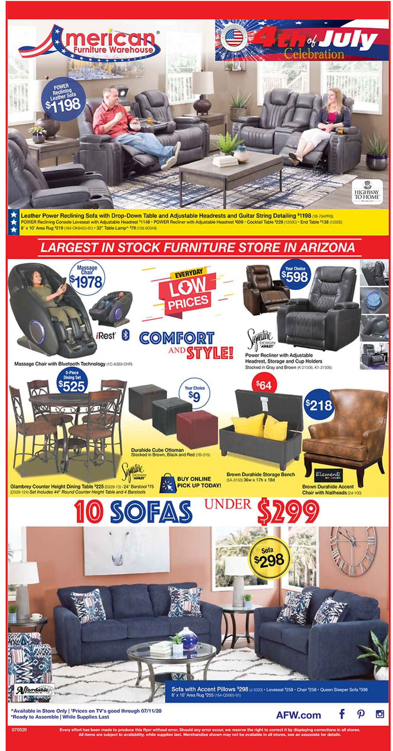 American Furniture Warehouse Weekly Ad Circular - valid 07/06-07/11/2020