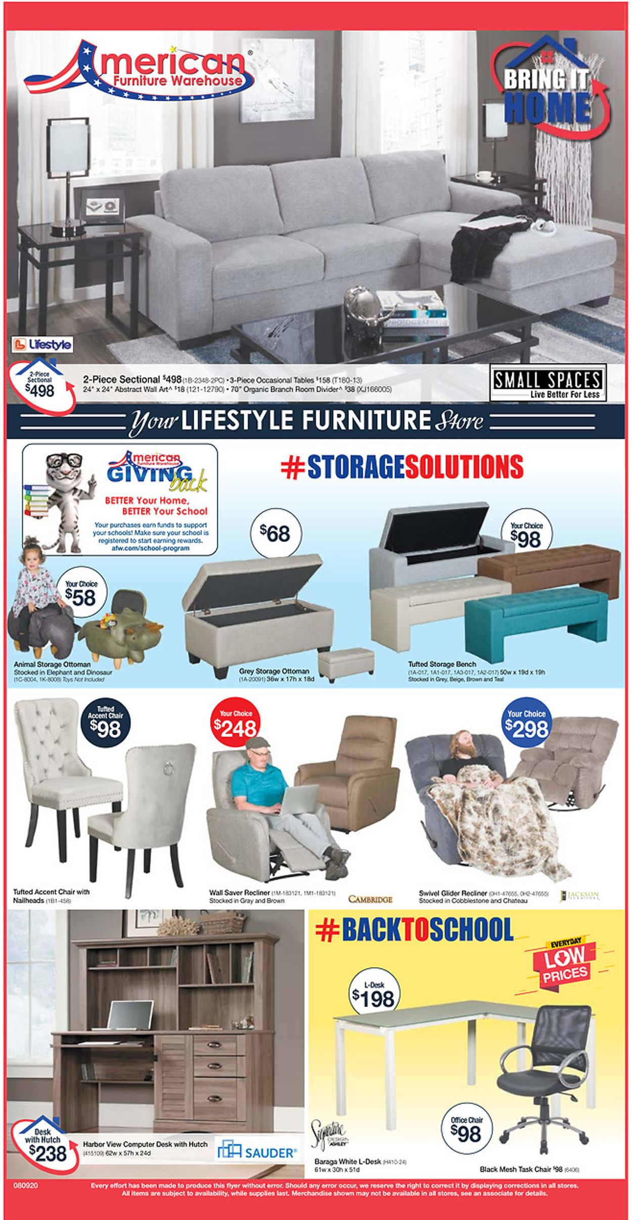 American Furniture Warehouse Weekly Ad Circular - valid 08/10-08/16/2020