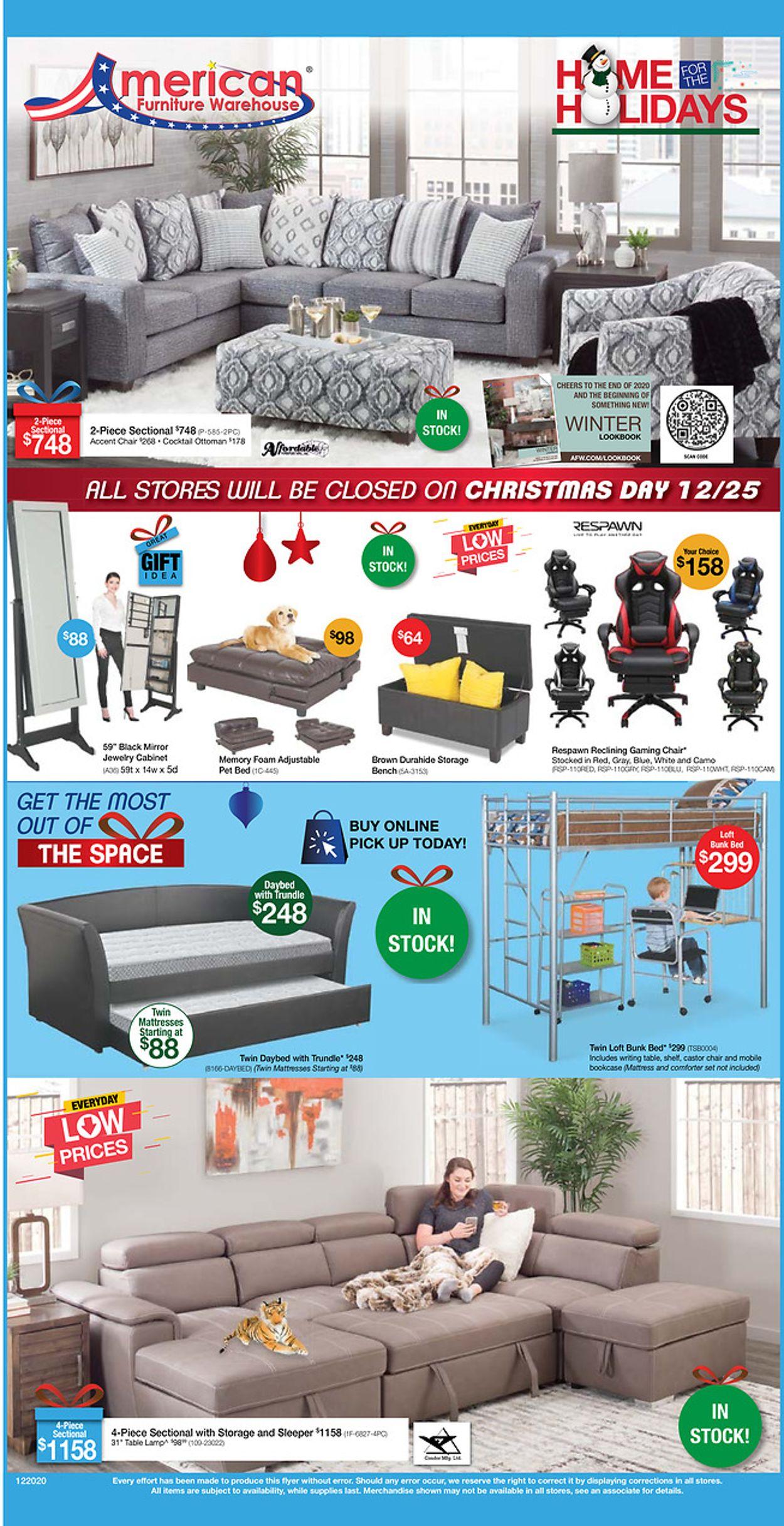American Furniture Warehouse Weekly Ad Circular - valid 12/21-12/26/2020