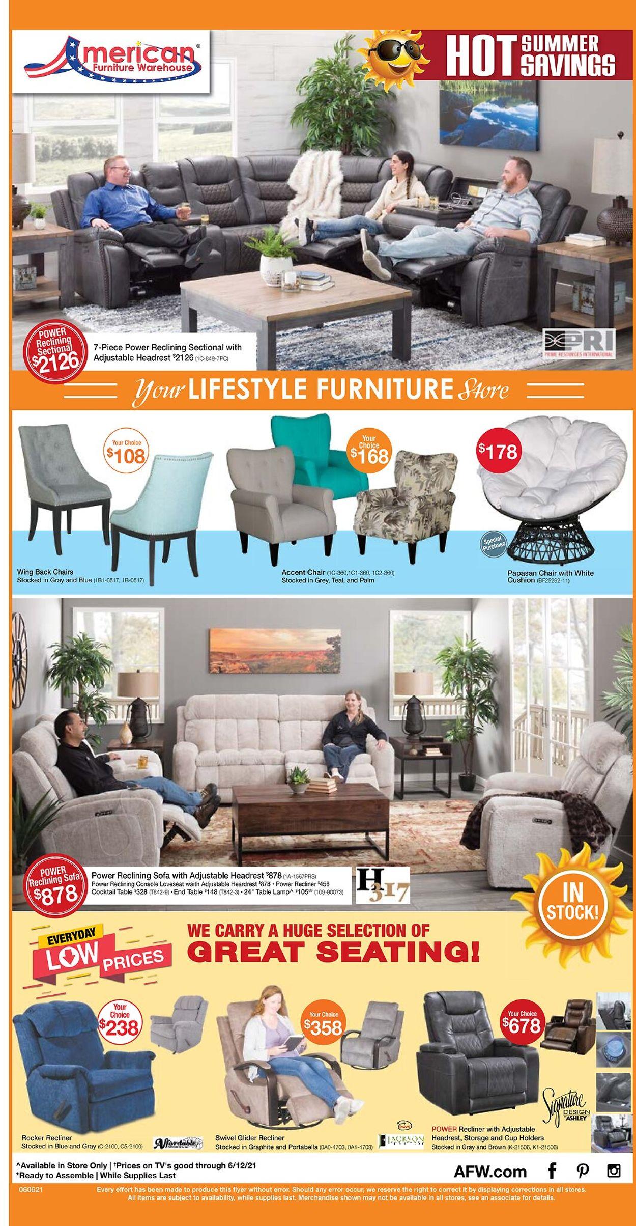 American Furniture Warehouse Weekly Ad Circular - valid 06/06-06/12/2021