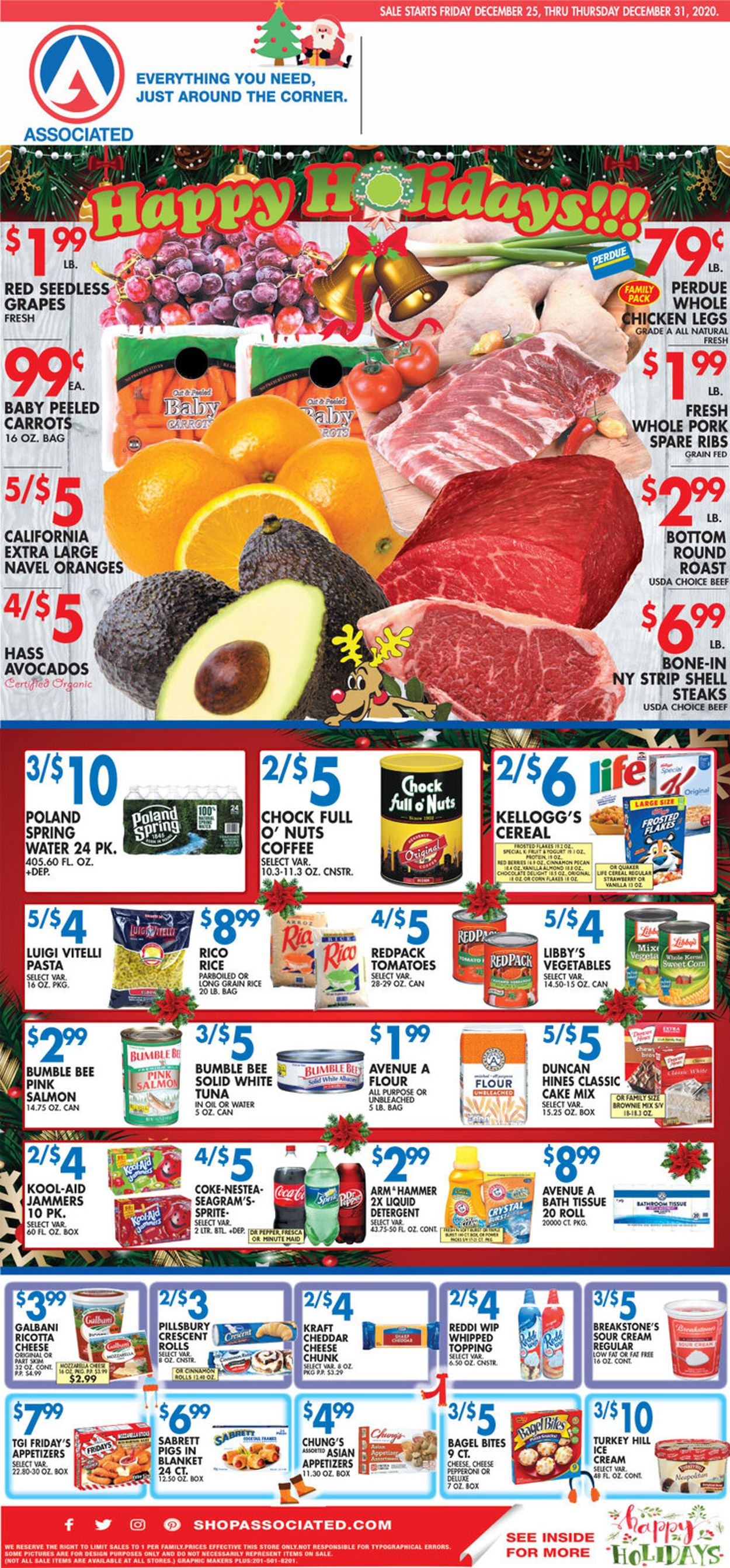 Associated Supermarkets Weekly Ad Circular - valid 12/27-12/31/2020
