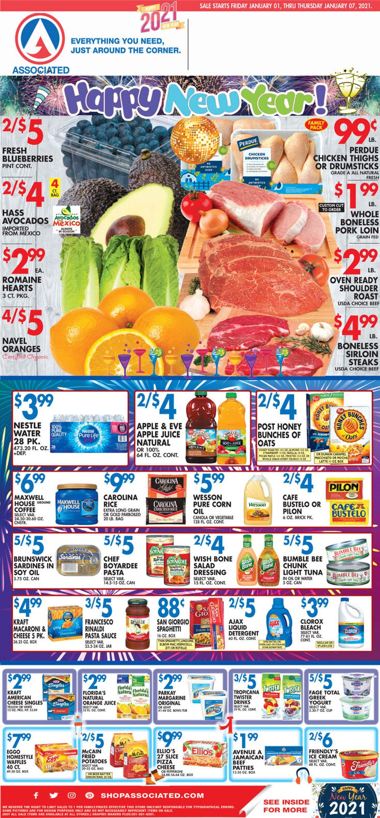 Associated Supermarkets Weekly Ad Circular - valid 01/01-01/07/2021