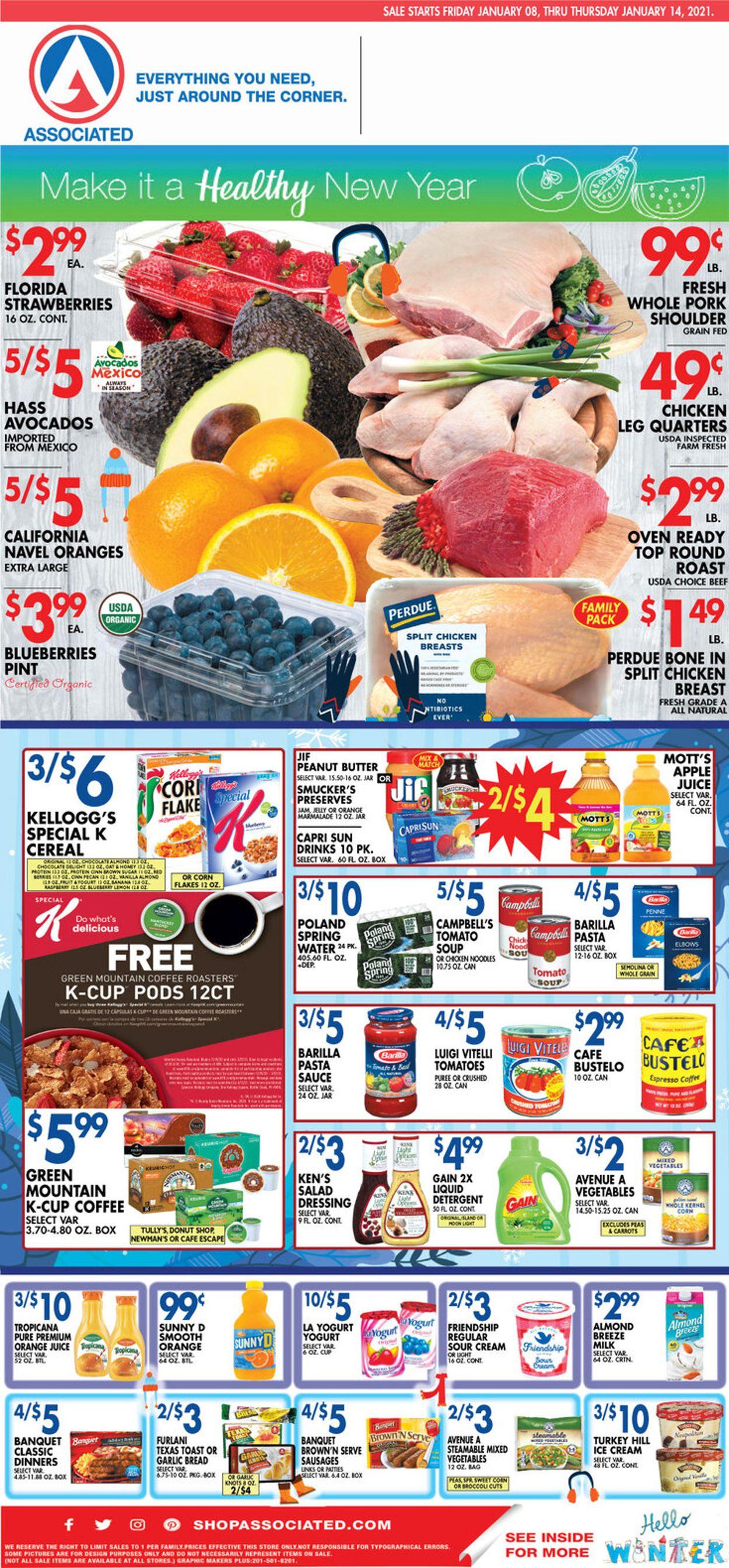 Associated Supermarkets Weekly Ad Circular - valid 01/08-01/14/2021