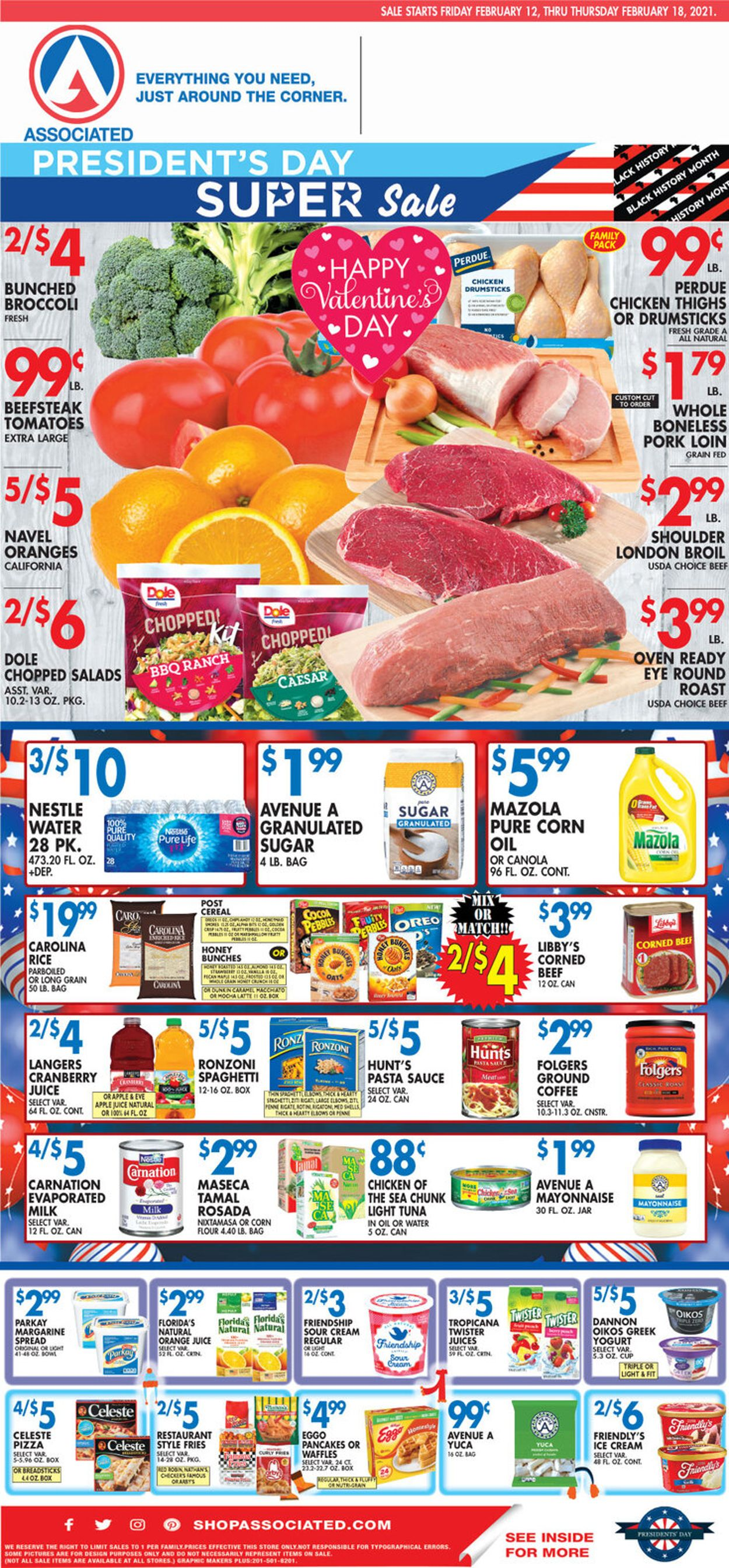 Associated Supermarkets Weekly Ad Circular - valid 02/12-02/18/2021