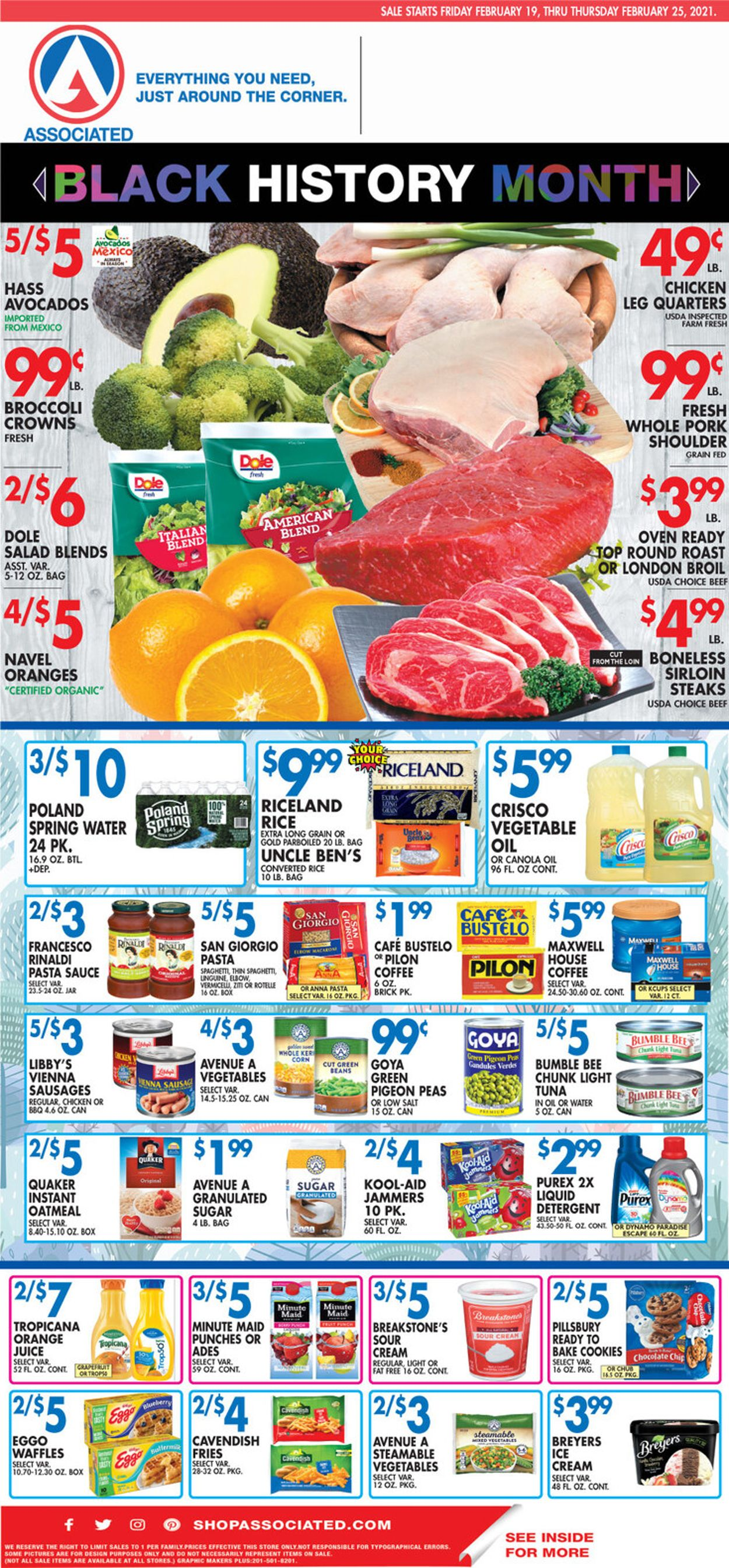 Associated Supermarkets Weekly Ad Circular - valid 02/19-02/25/2021