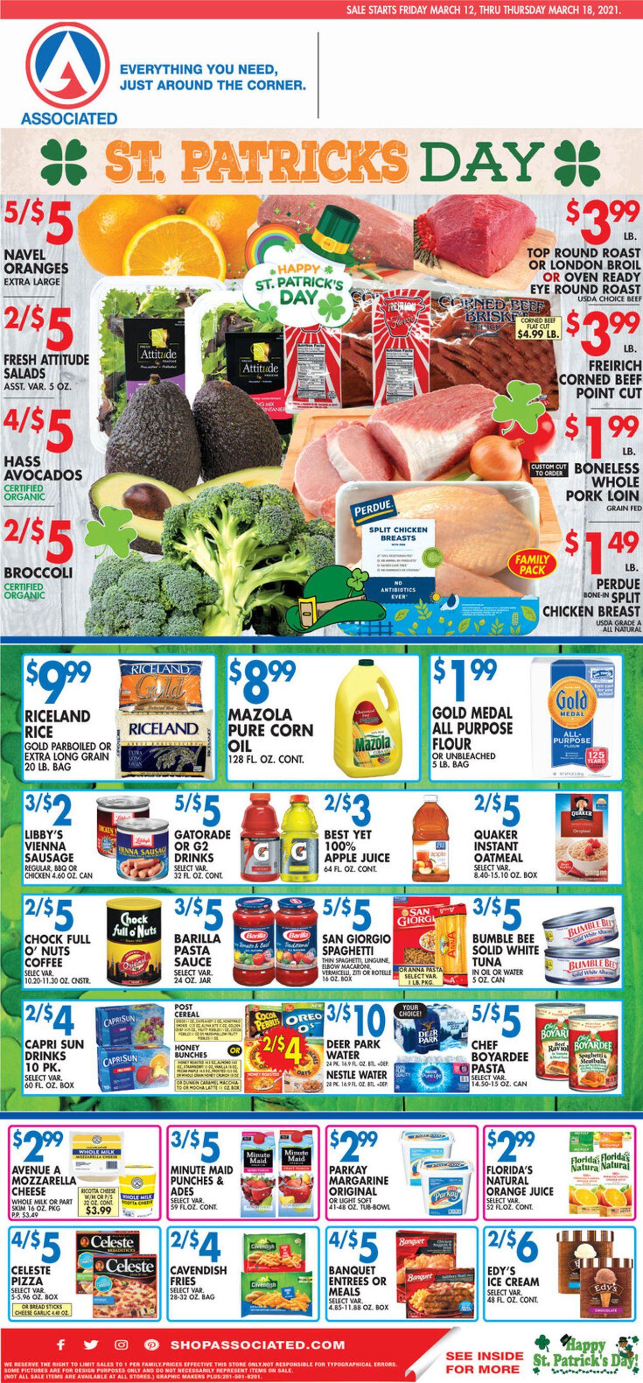 Associated Supermarkets Weekly Ad Circular - valid 03/12-03/18/2021